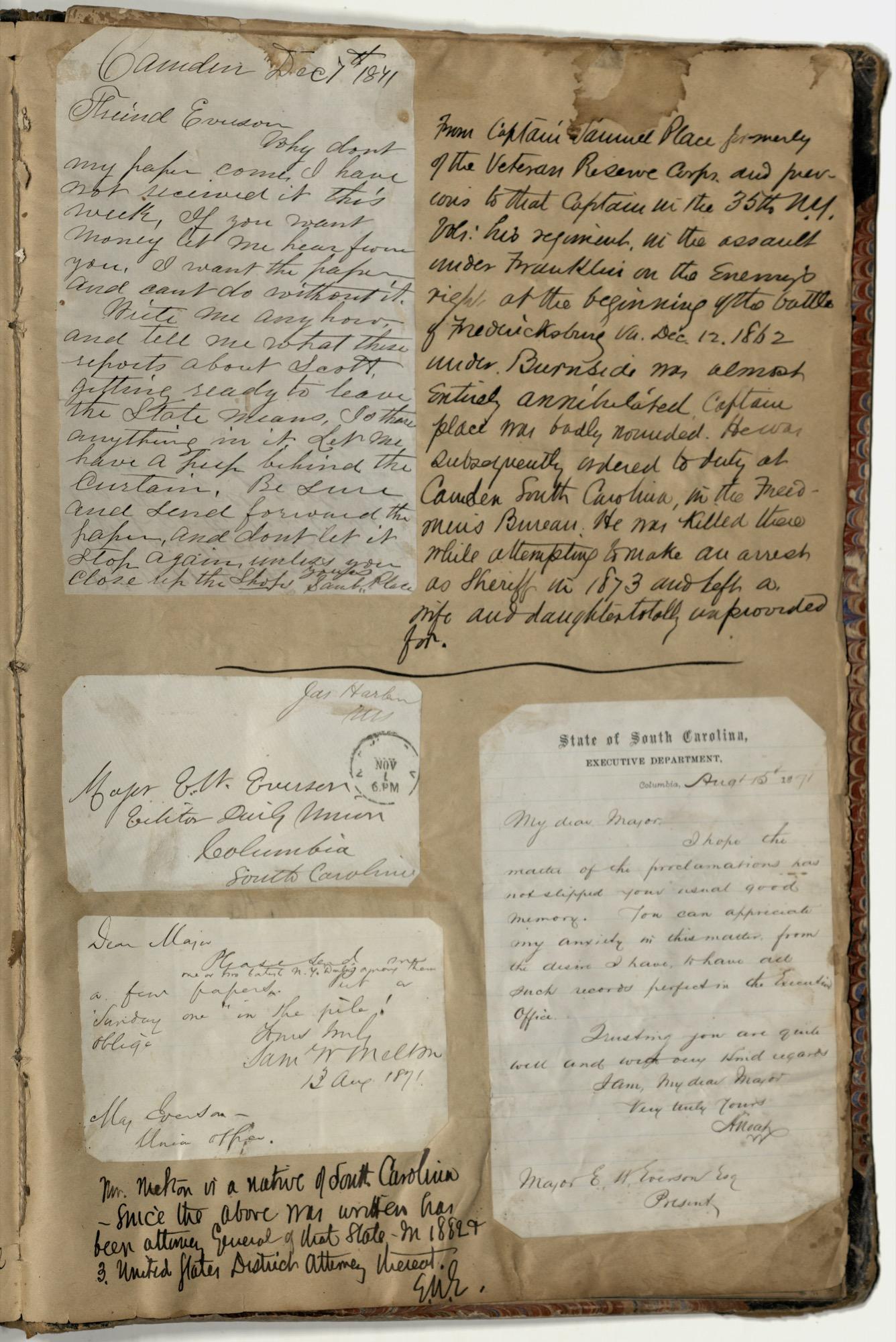 Erastus Everson Diary 1861-1893, page 257