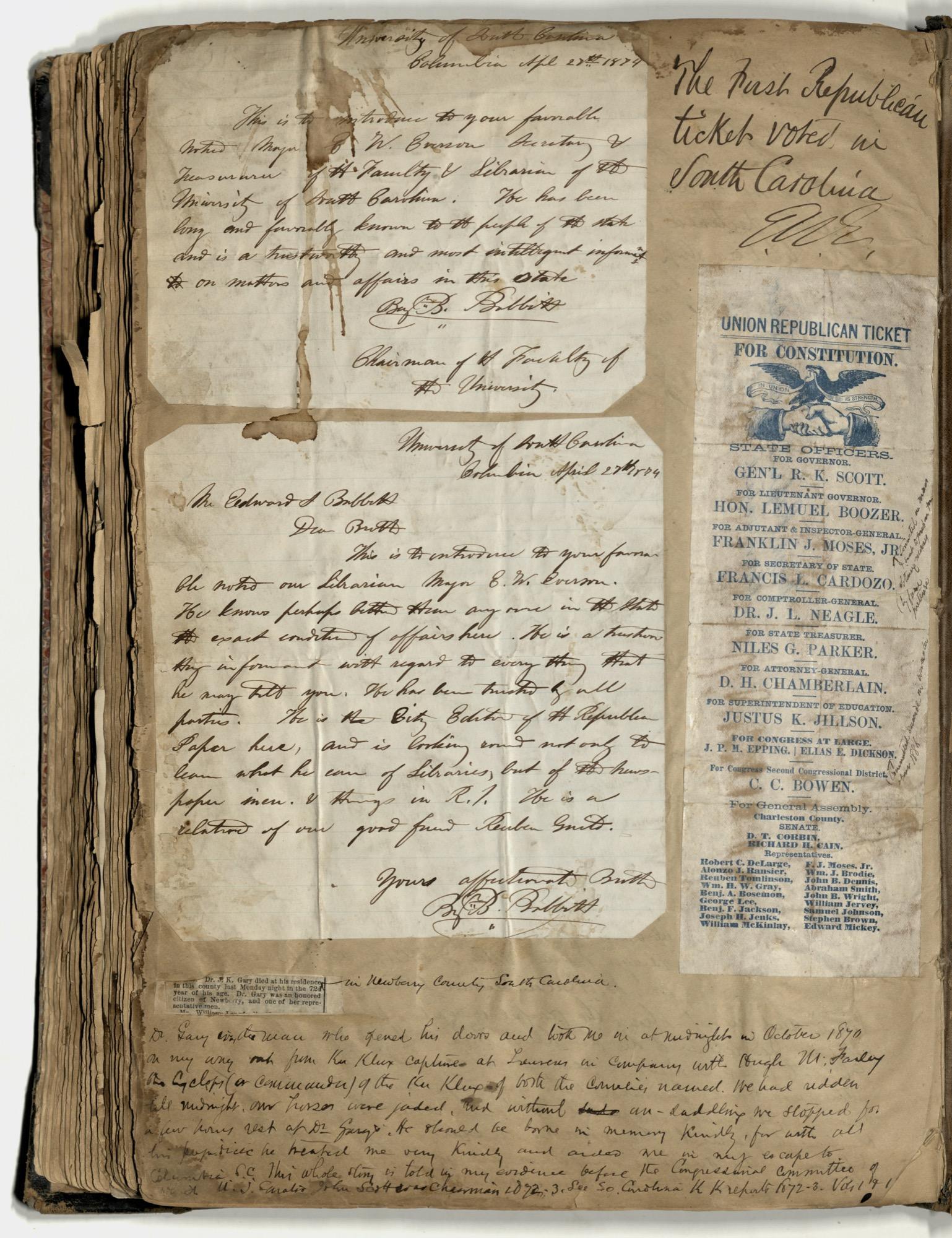Erastus Everson Diary 1861-1893, page 262