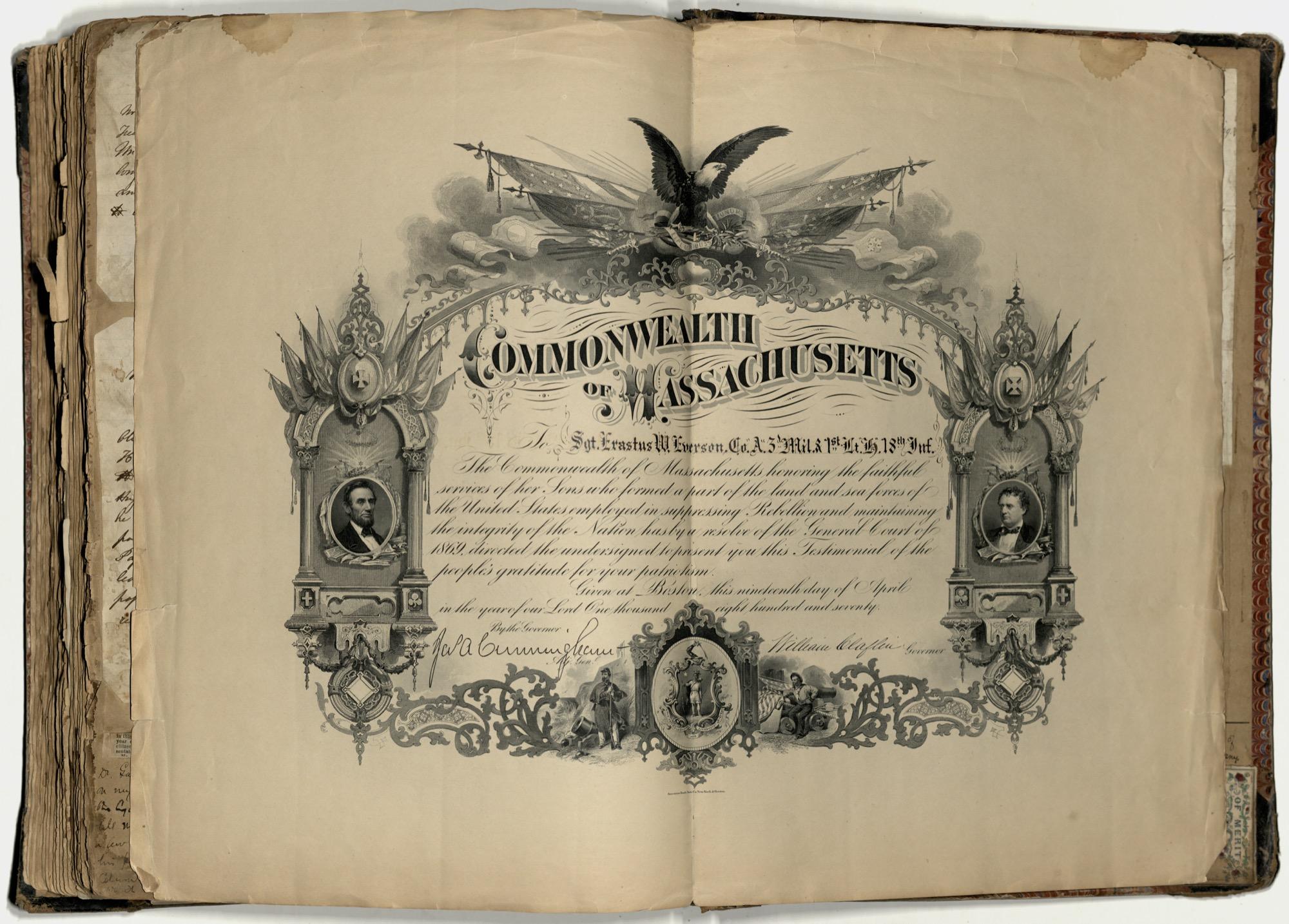 Erastus Everson Diary 1861-1893, page 265