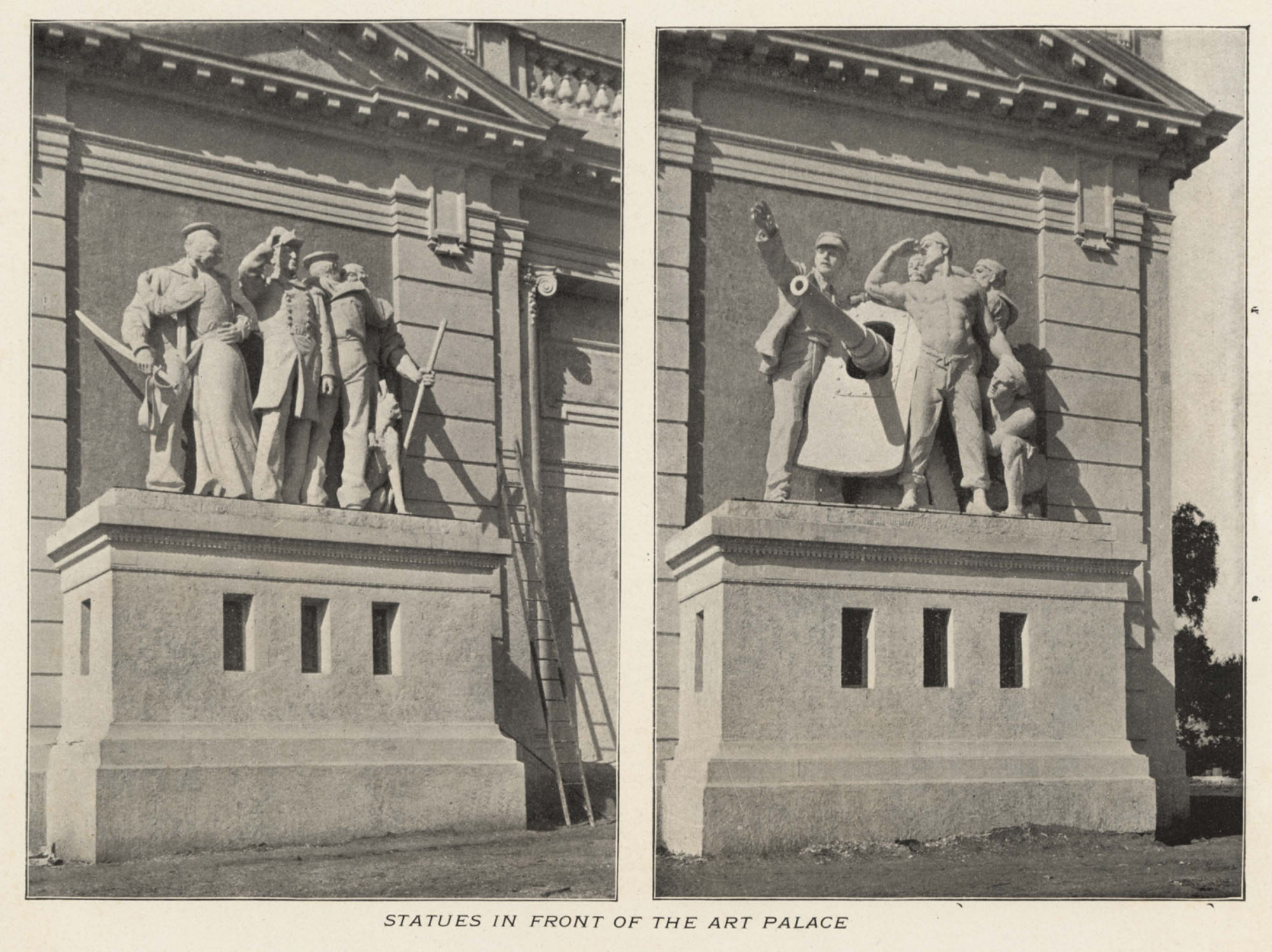 Art Palace statues