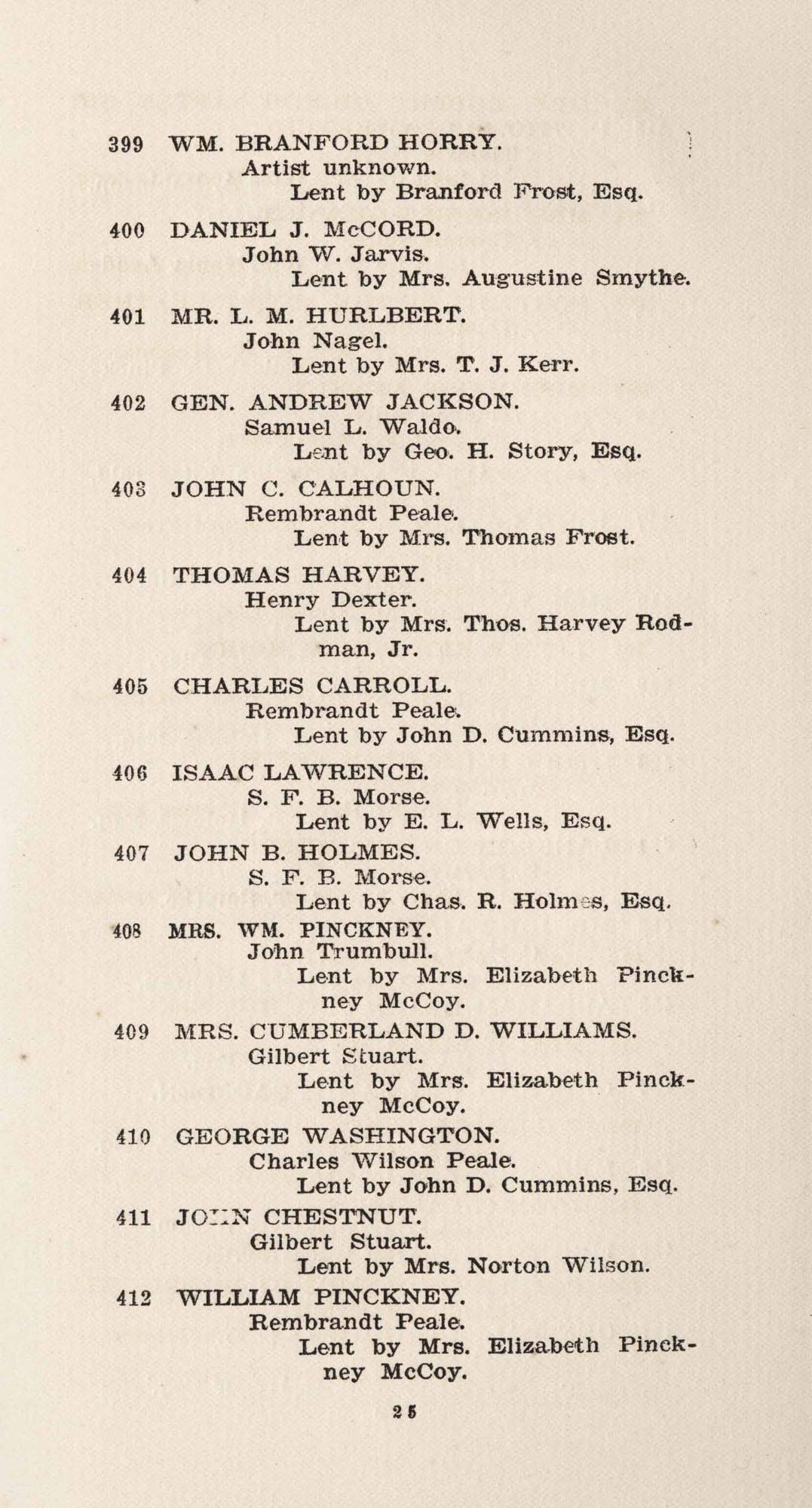 Catalogue, 399-412