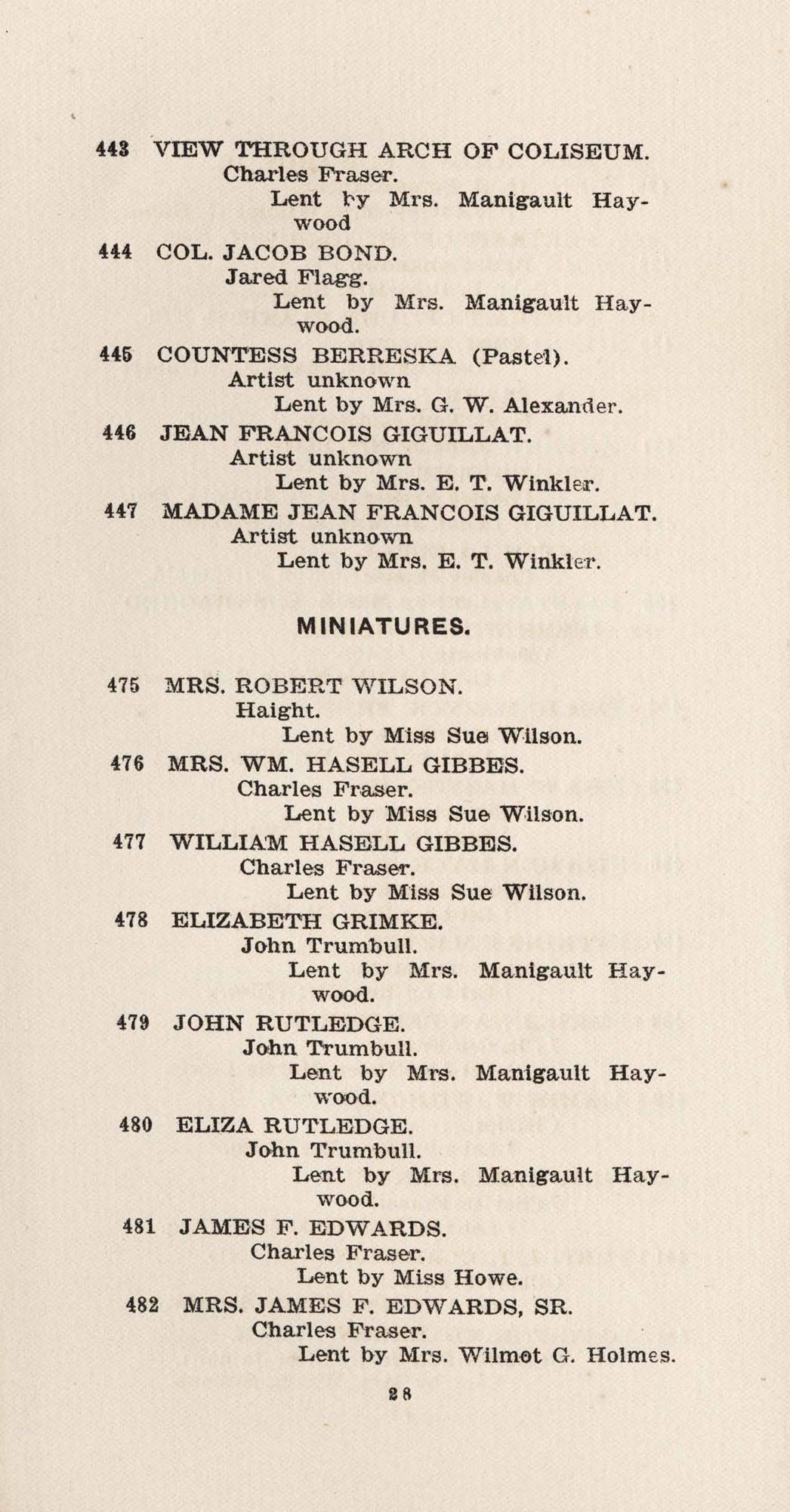 Catalogue, 442-482