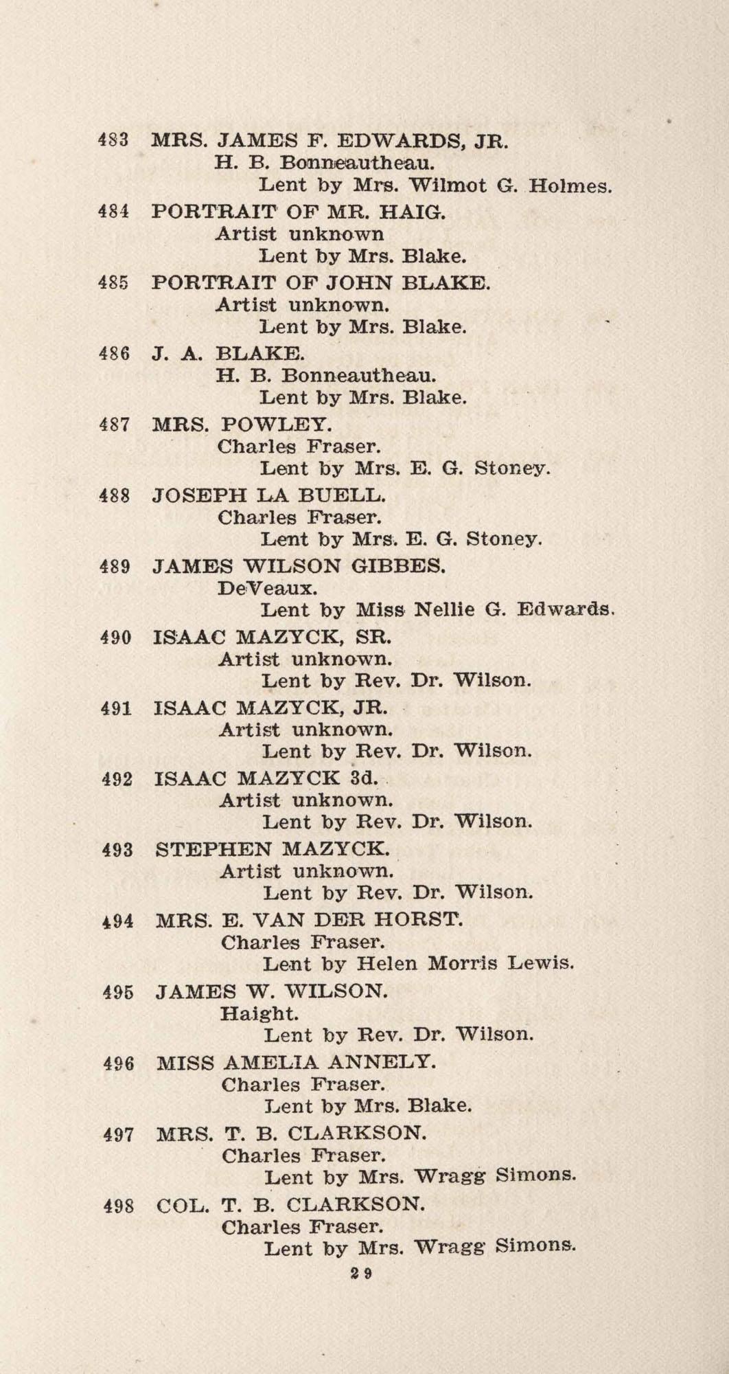 Catalogue, 483-498