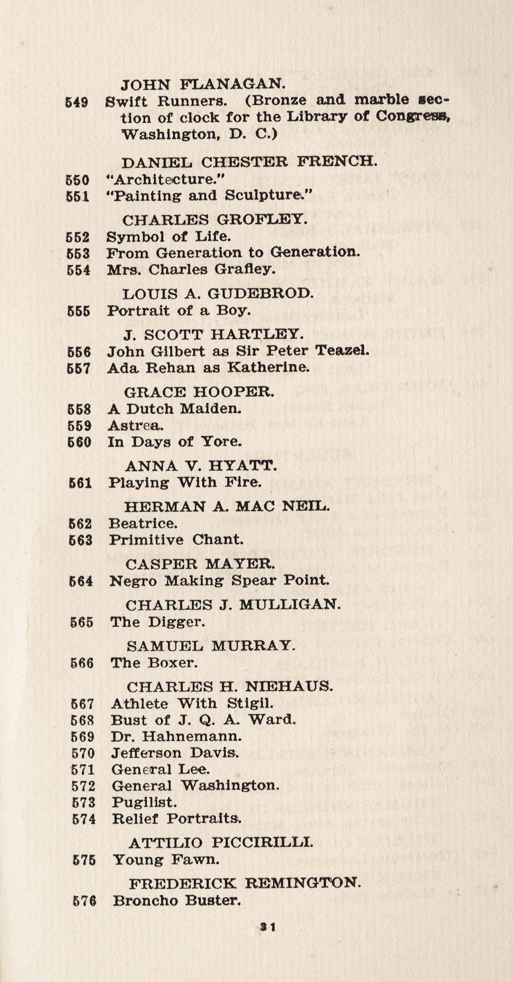 Catalogue, 549-576