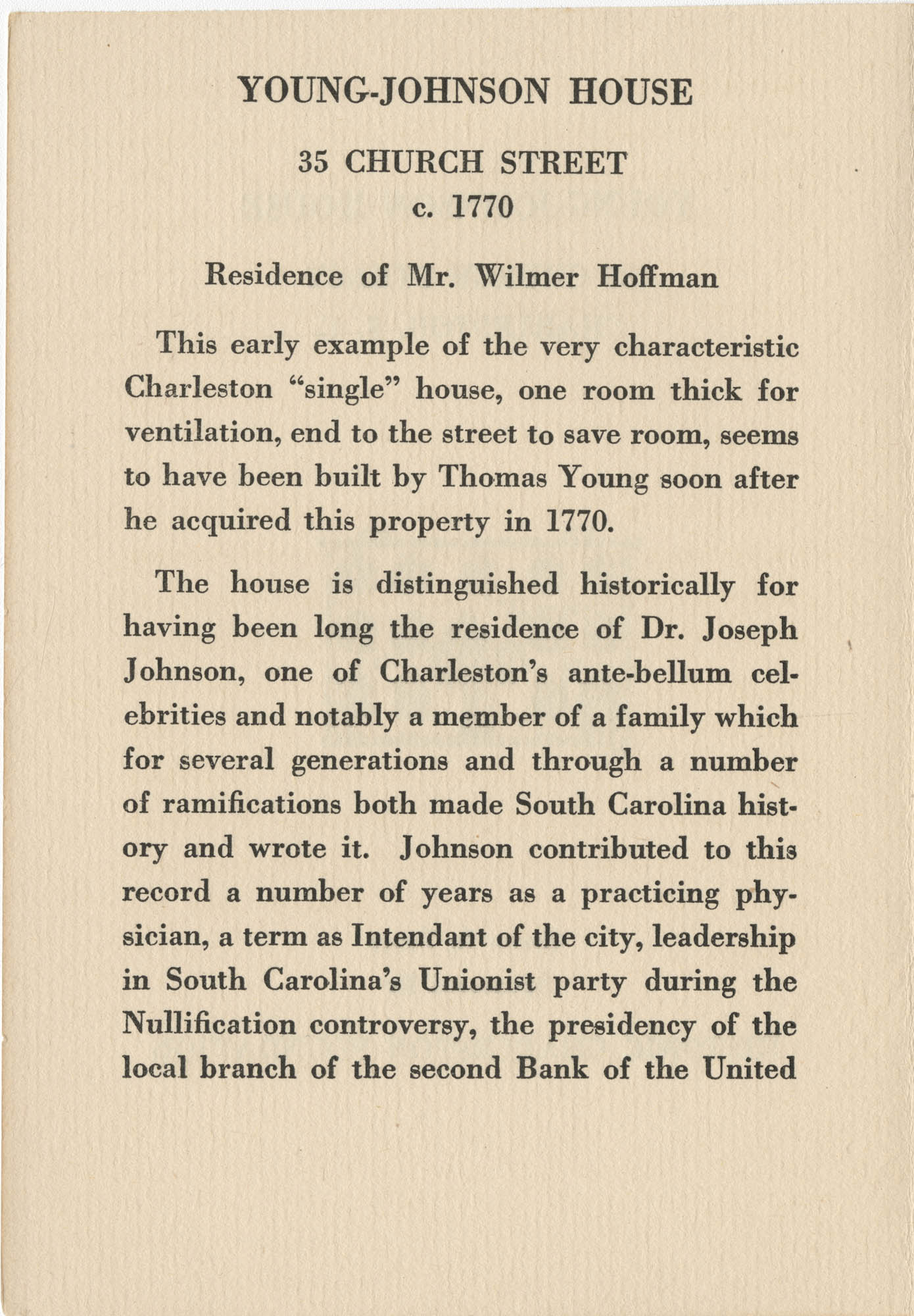 Young-Johnson House Page 1
