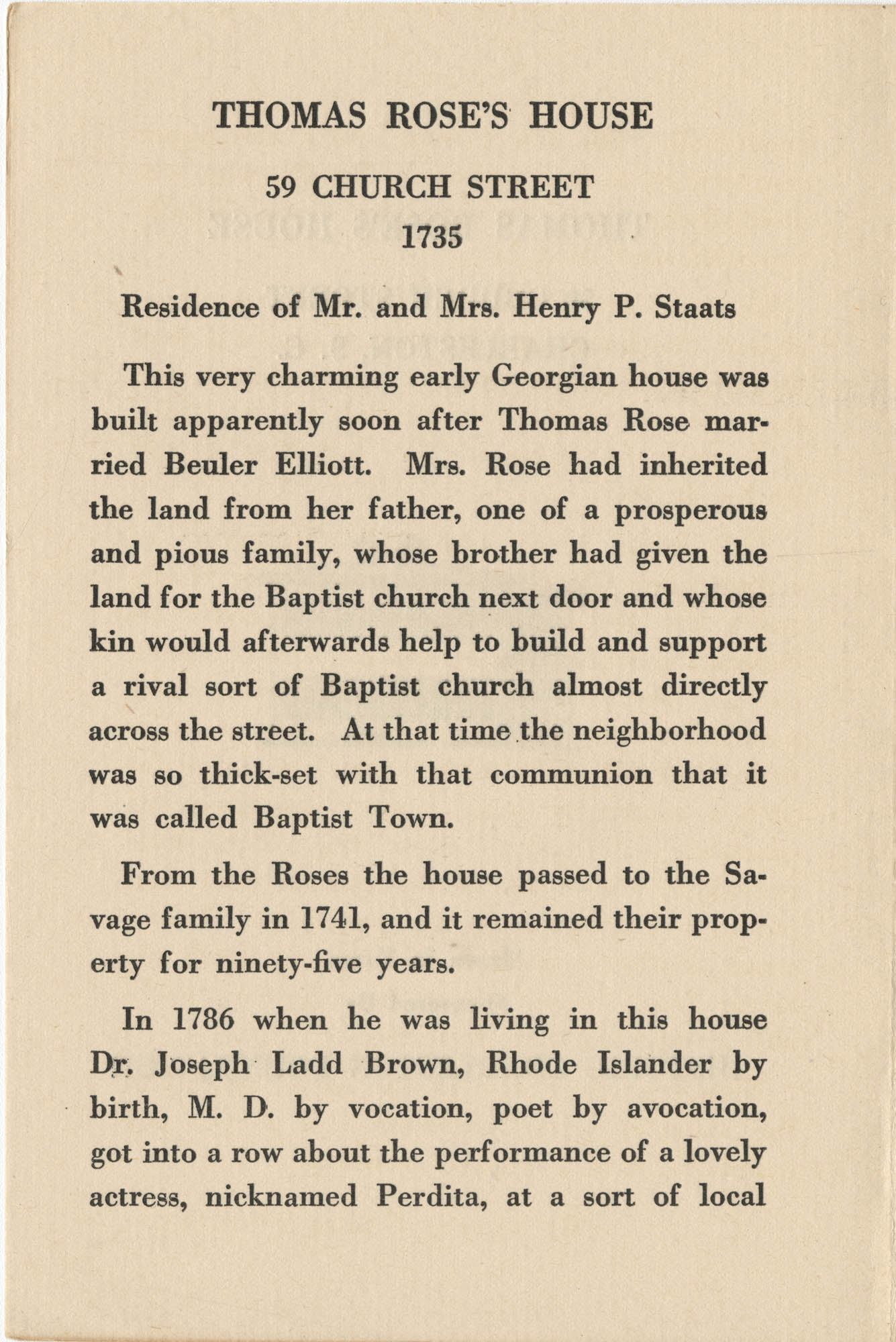Thomas Rose's House Page 1