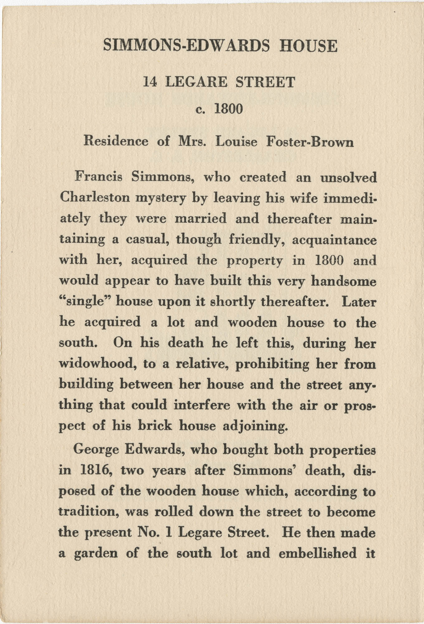 Simmons-Edwards House Page 1