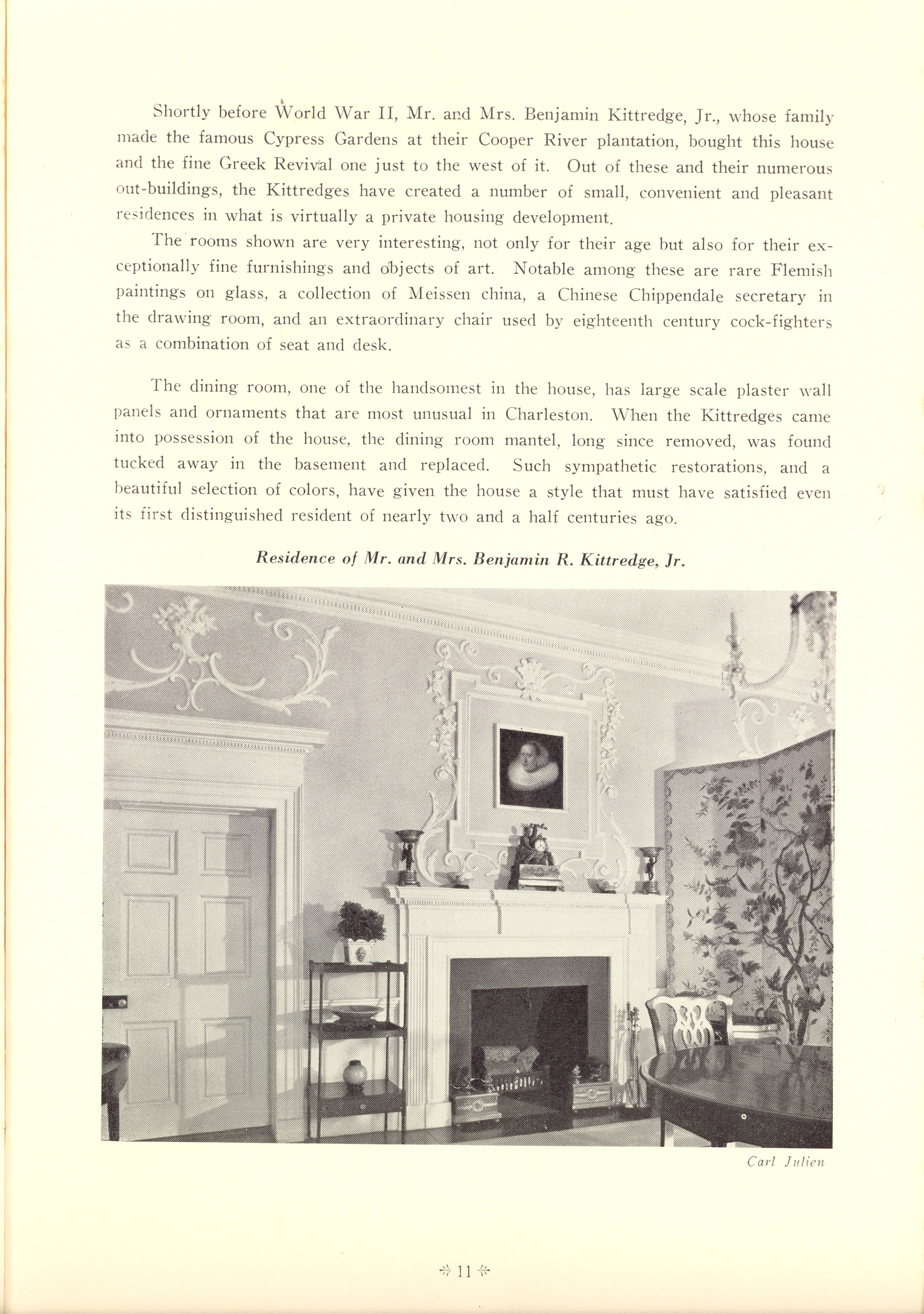 Page 11:  No. 1 - Colonel William Rhett's House, 54 Hasell Street, c. 1712, cont'd