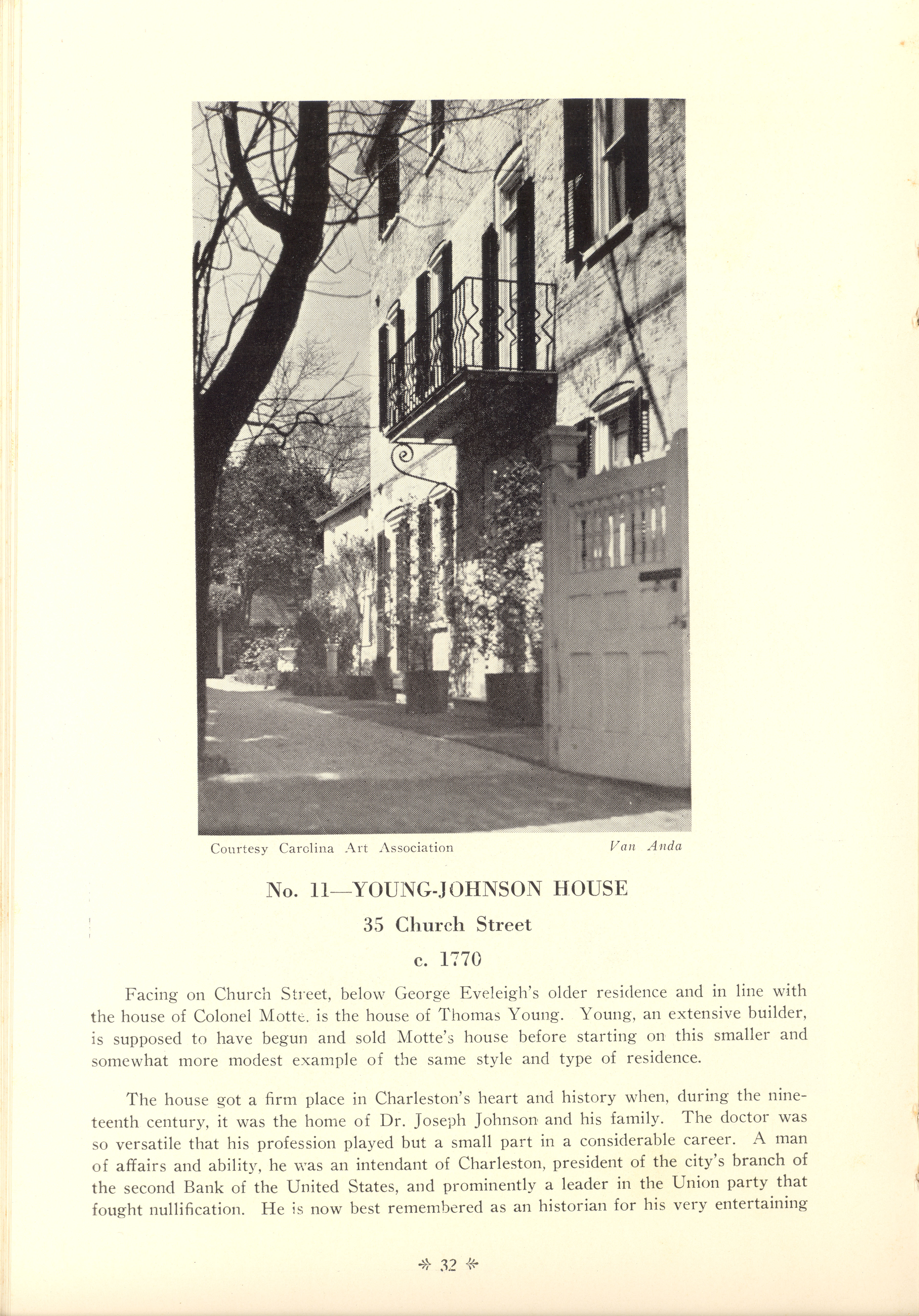 Page 32:  No. 11 - Young-Johnson House, 35 Church Street, c. 1780