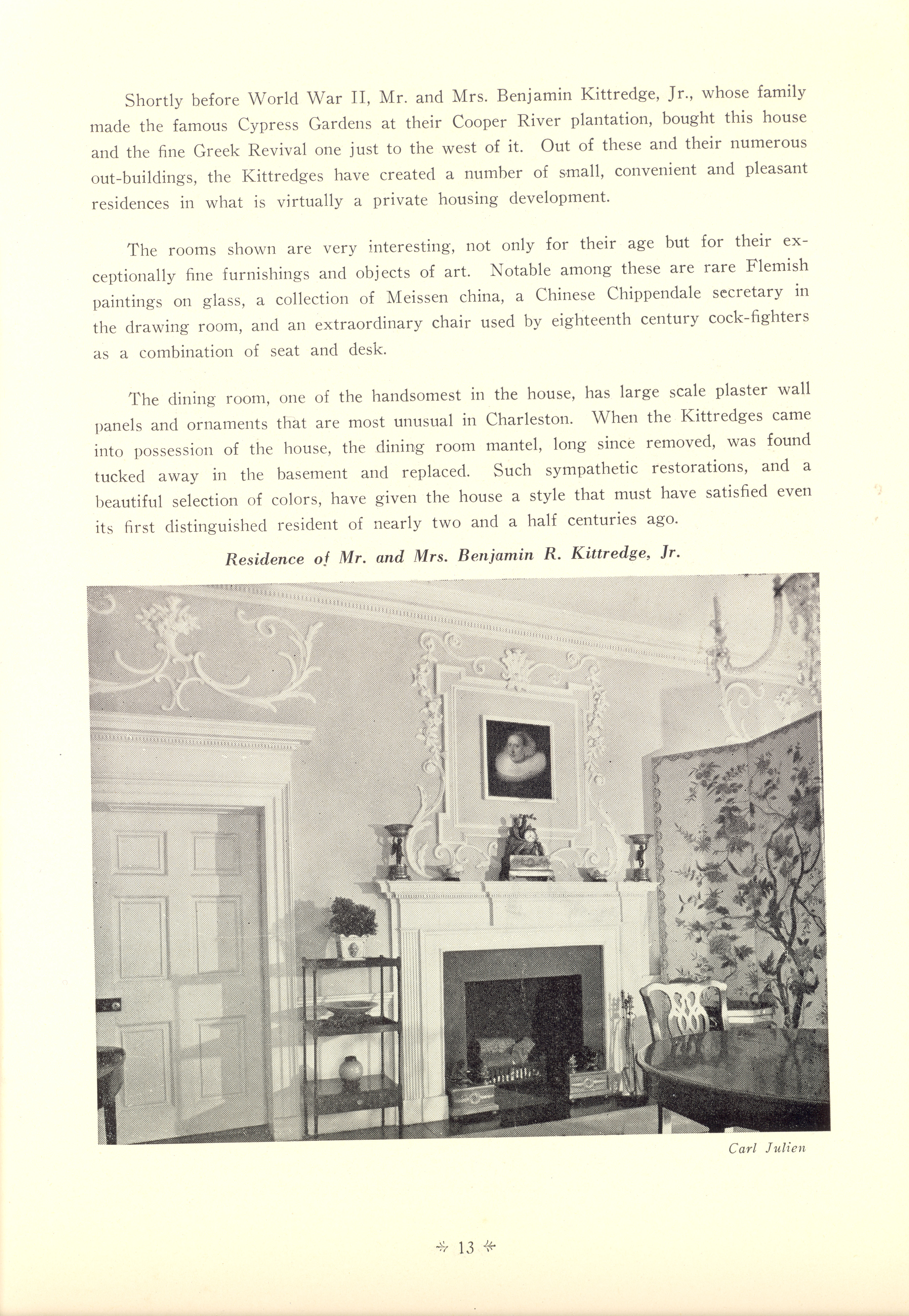 Page 13:  No. 1 - Colonel William Rhett's House, 54 Hasell Street, c. 1712, cont'd