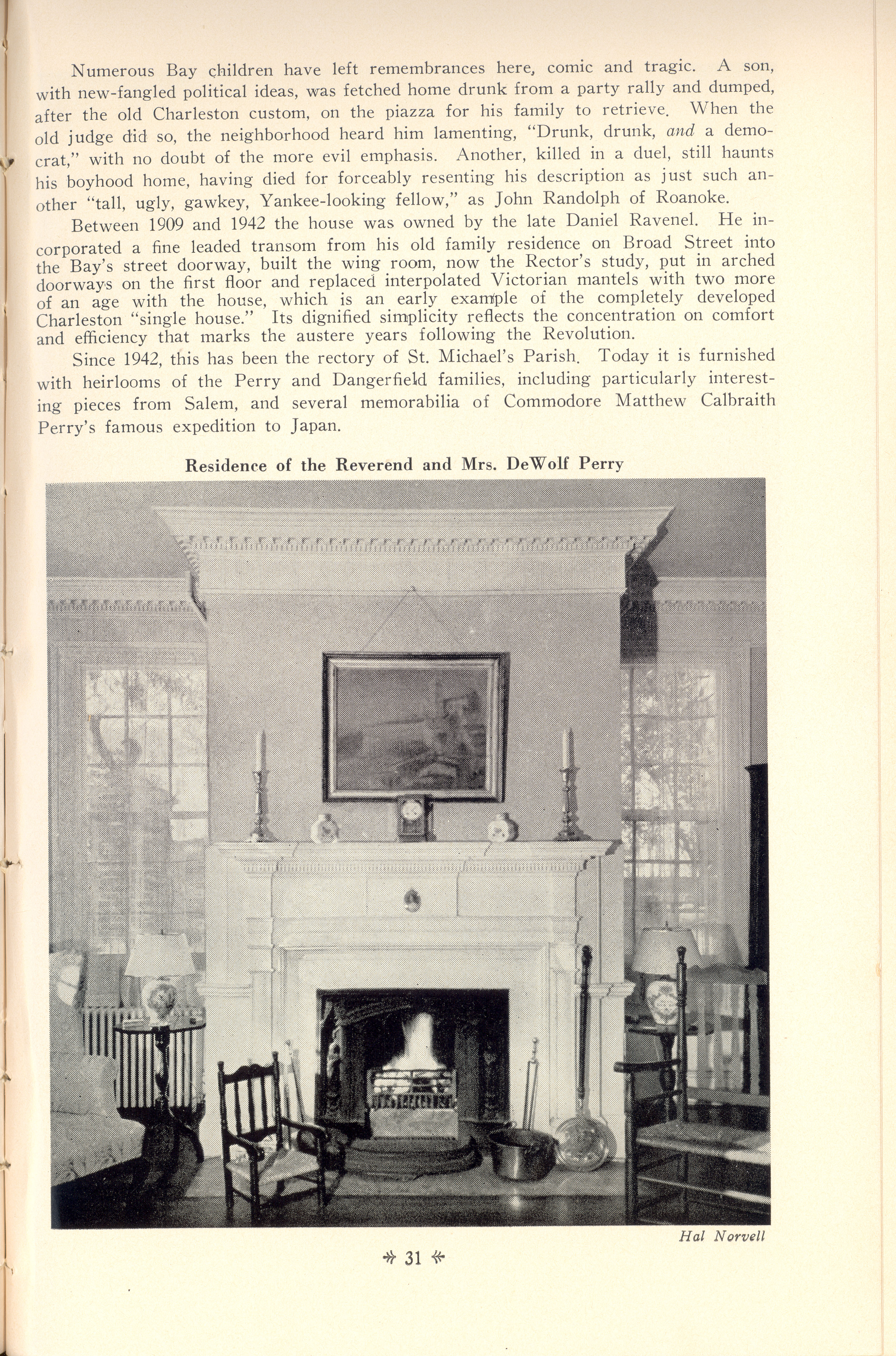 Page 31:  No. 10 - Judge Elihu Hall Bay's House, 76 Meeting Street, c. 1785, cont'd