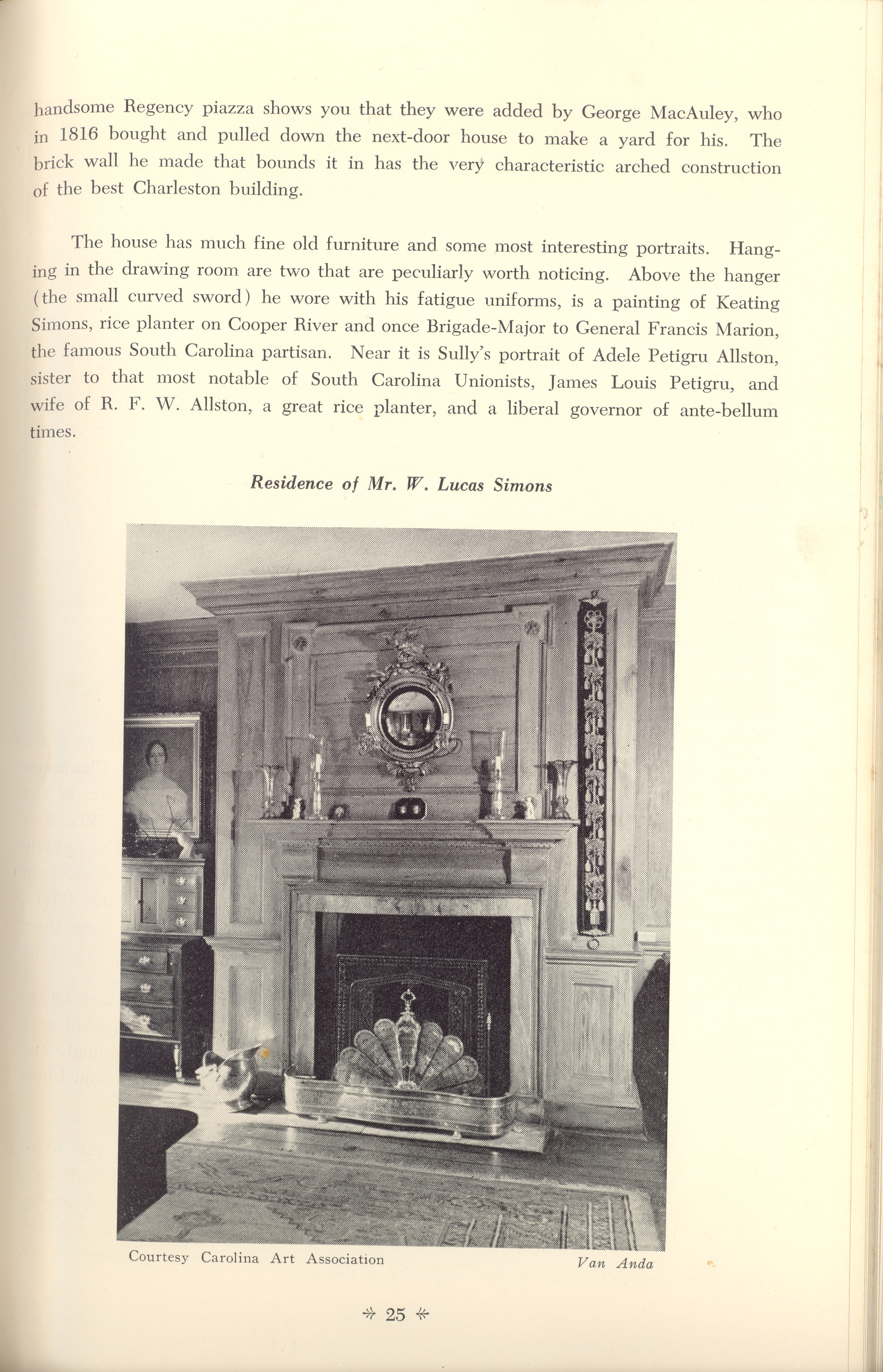 Page 25:  No. 7 - Thomas Legare's House, 90 Church Street, c. 1760, cont'd