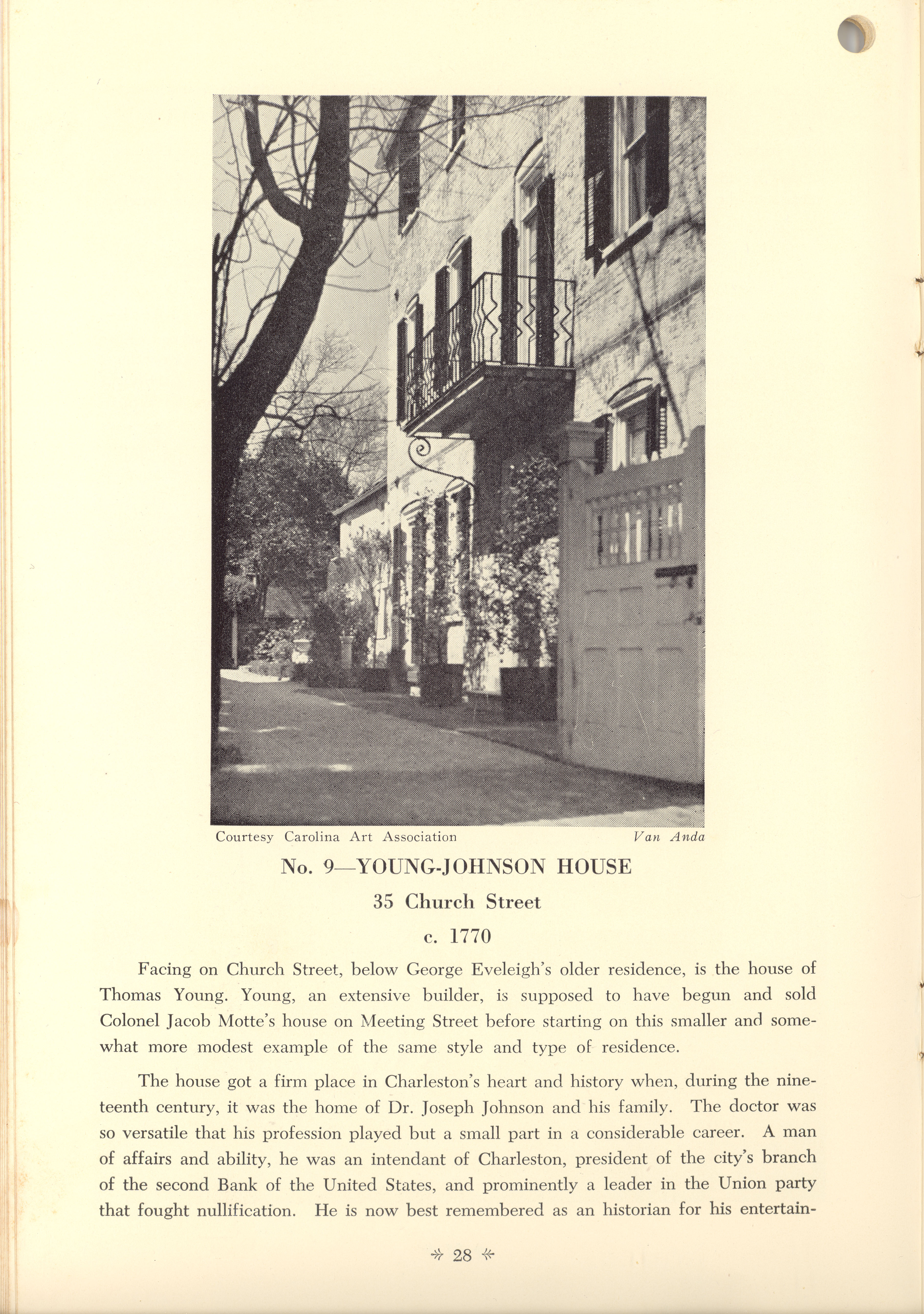 Page 28:  No. 9 - Young-Johnson House, 35 Church Street, c. 1780