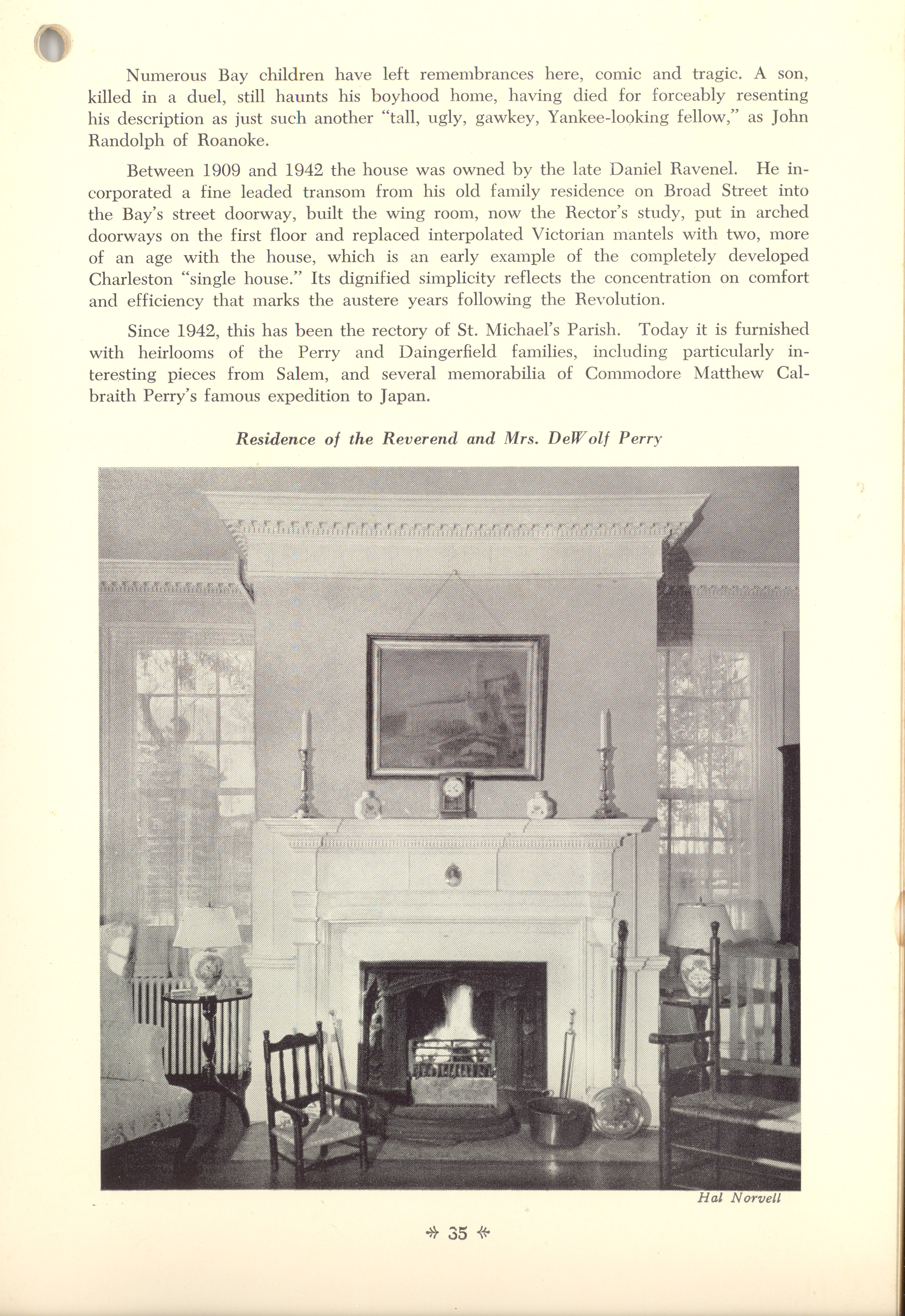 Page 35:  No. 12 - Judge Elihu Hall Bay's House, 76 Meeting Street, c. 1785