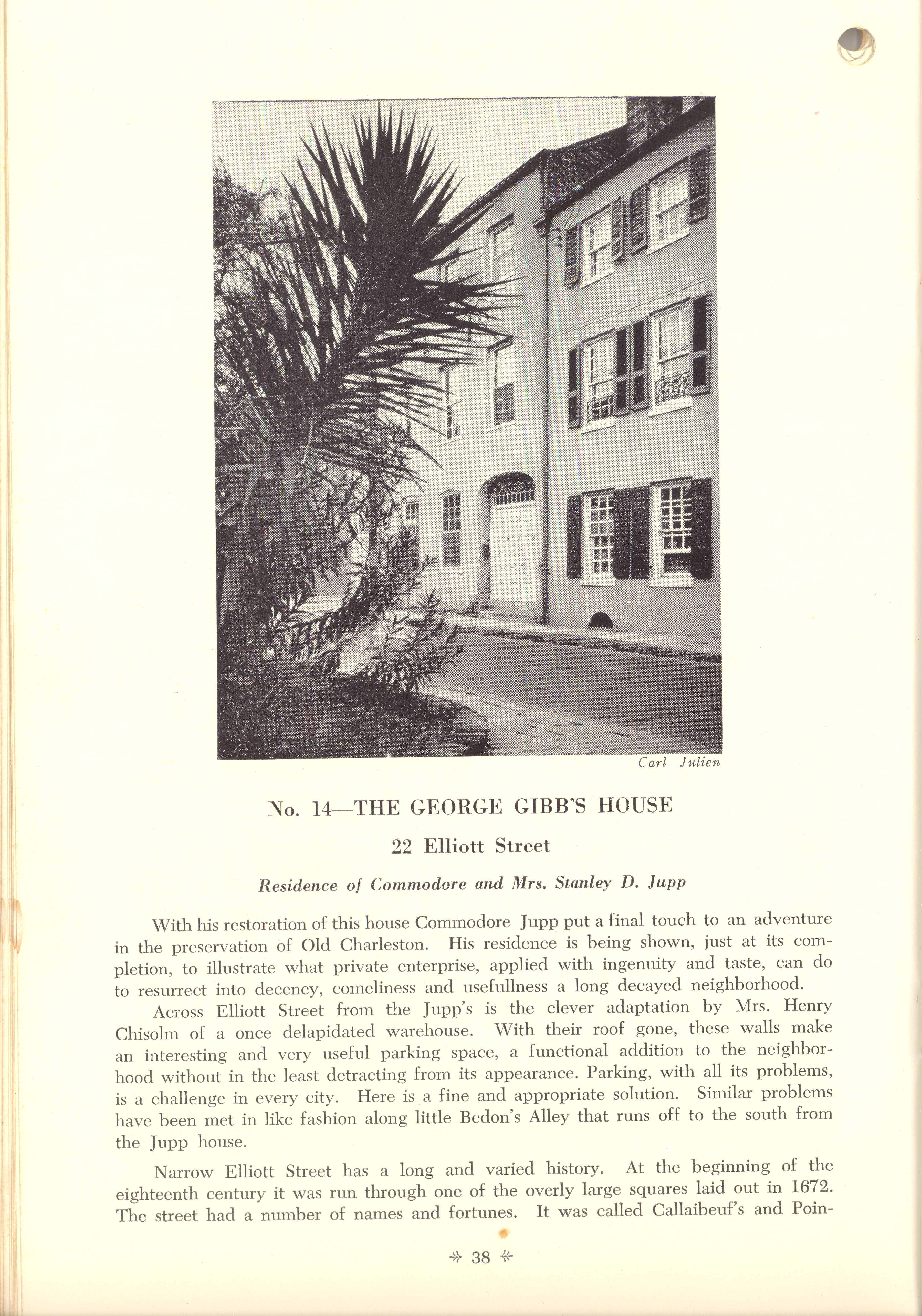 Page 38:  No. 14 - The George Gibb's House, 22 Elliott Street