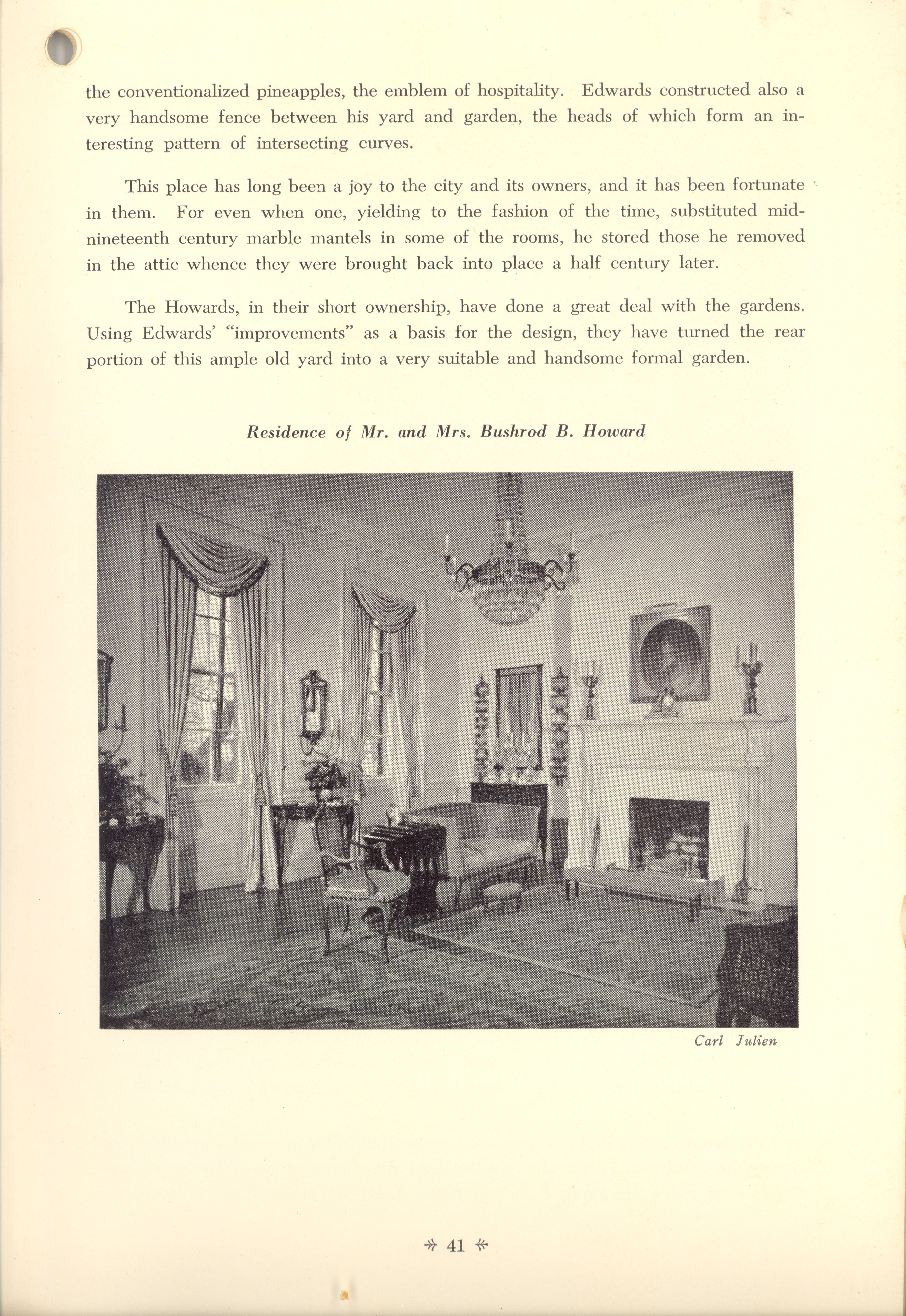 Page 41:  No. 15 - The Simmons-Edwards House, 14 Legare Street, c. 1800
