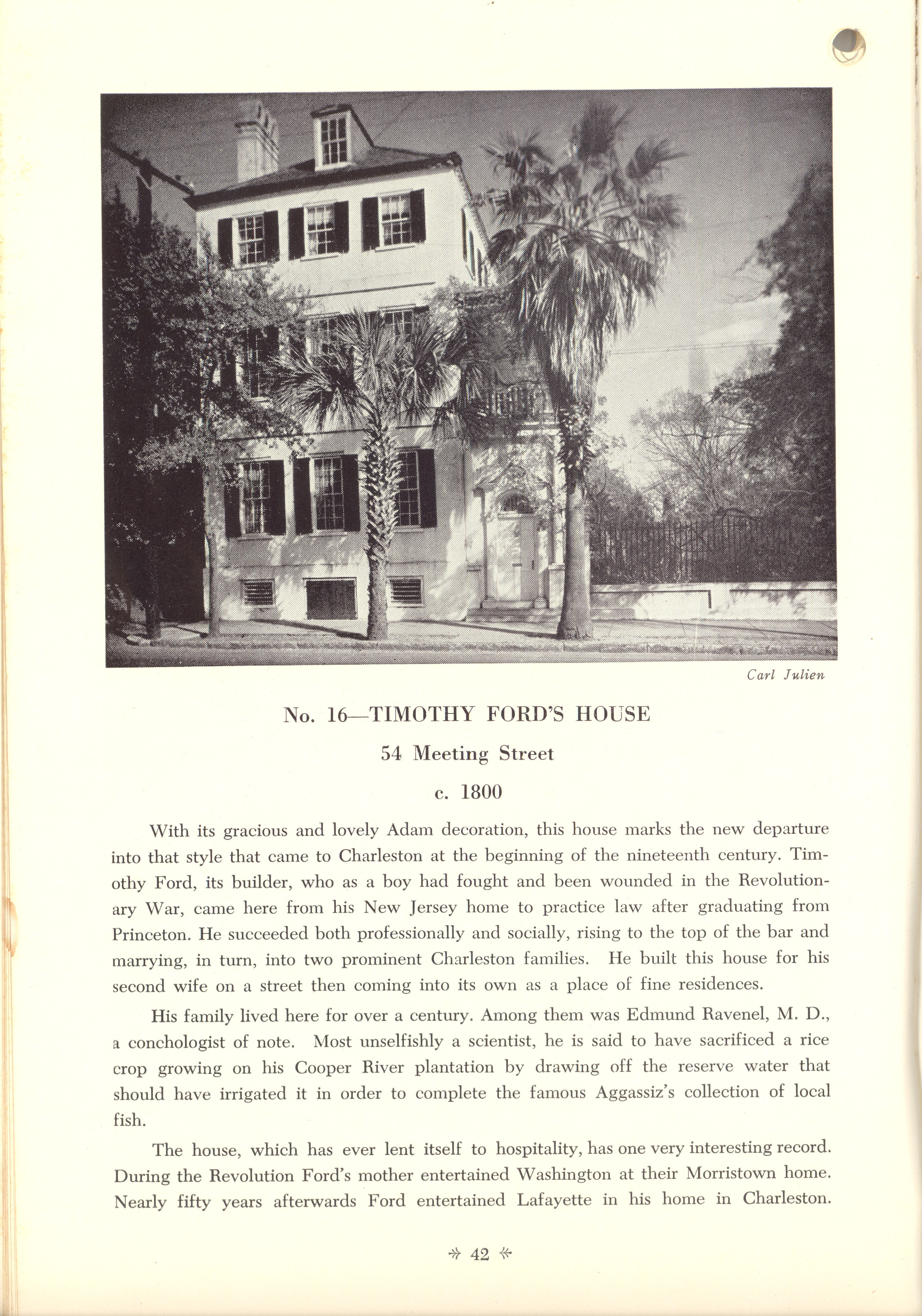 Page 42:  No.16 - Timothy Ford's House, 54 Meeting Street, c. 1800