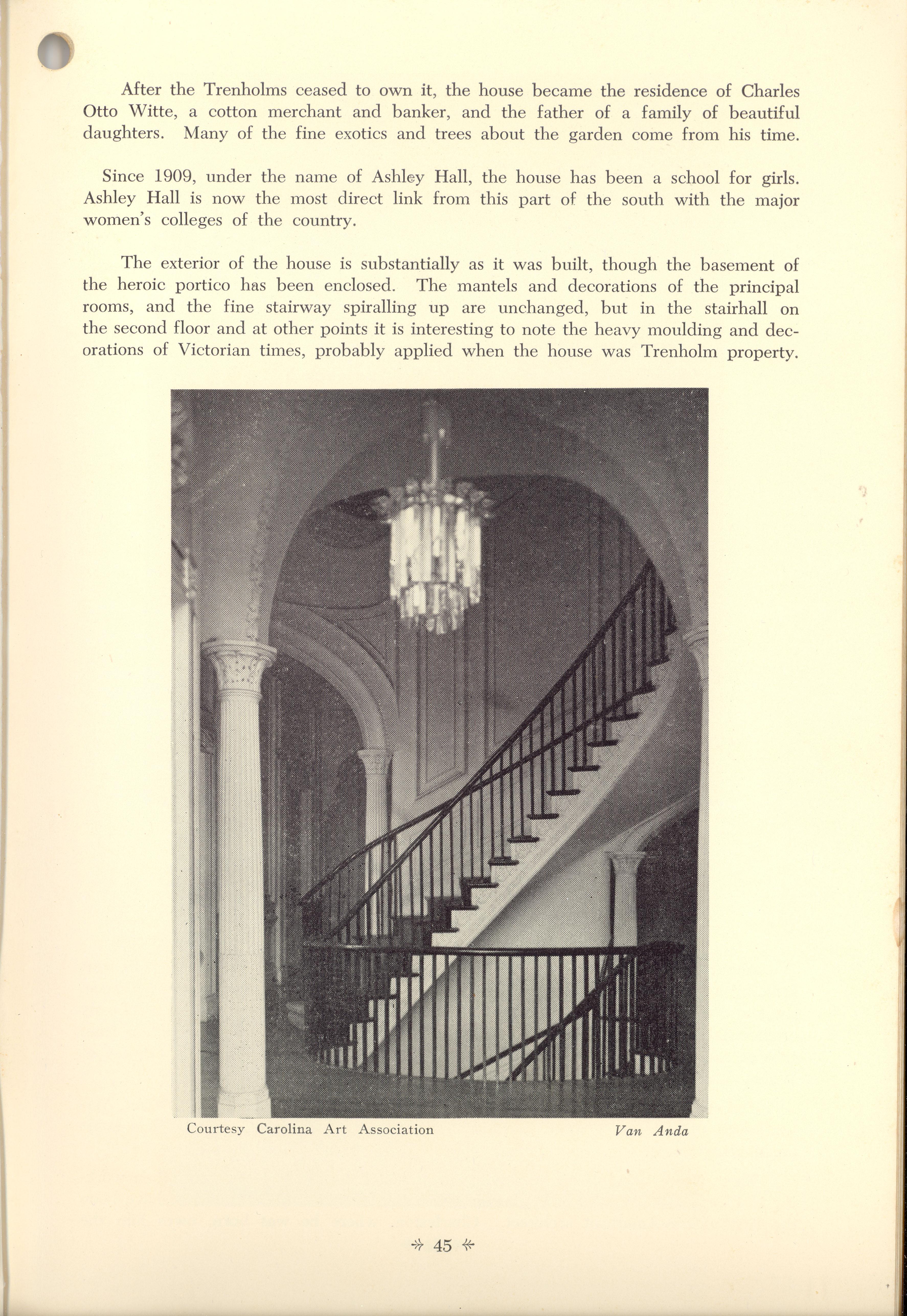 Page 45:  No. 17 - Ashley Hall, 172 Rutledge Avenue, c. 1816, cont'd