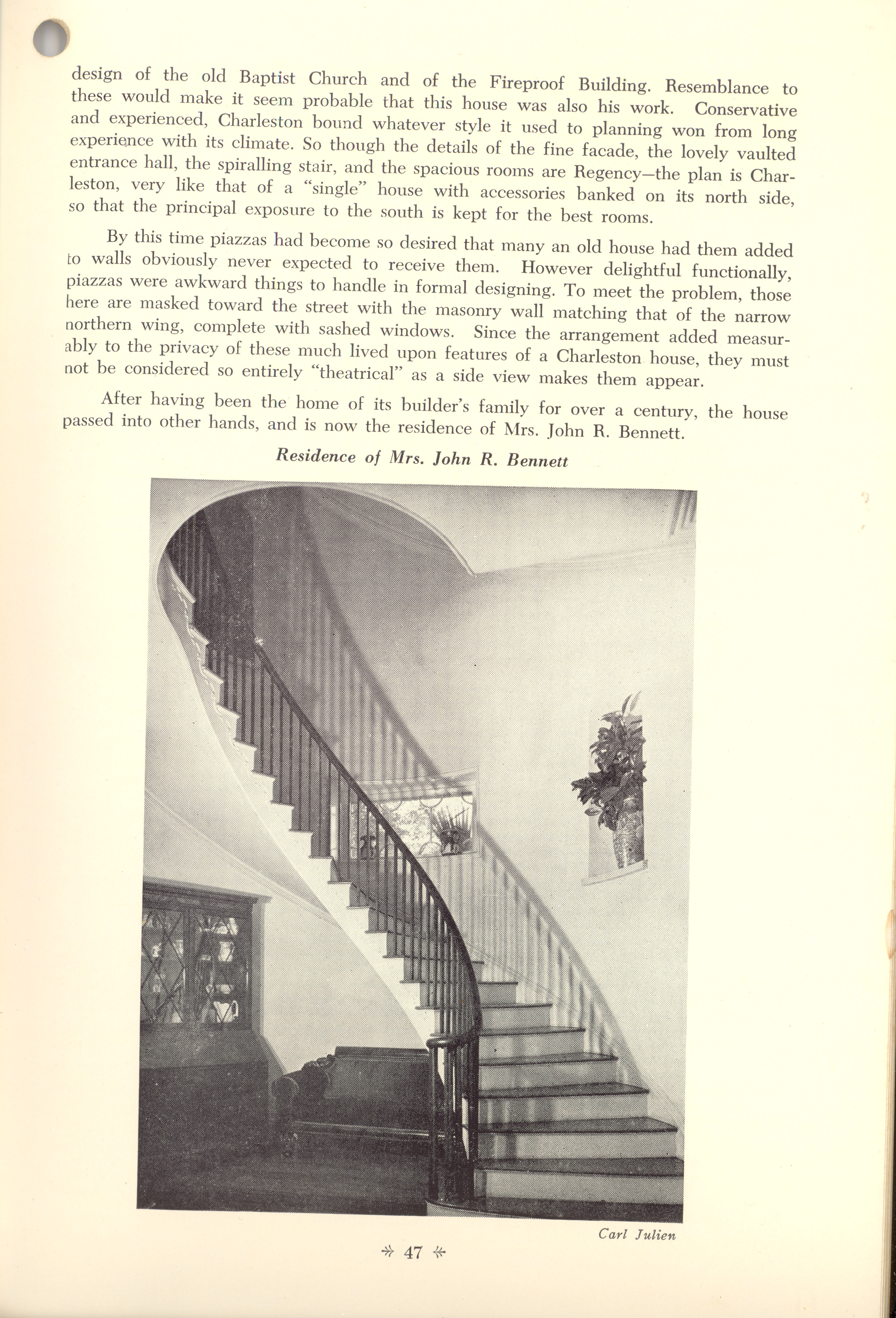 Page 47:  No. 18 - William Mason Smith's House, 26 Meeting Street, c. 1822, cont'd