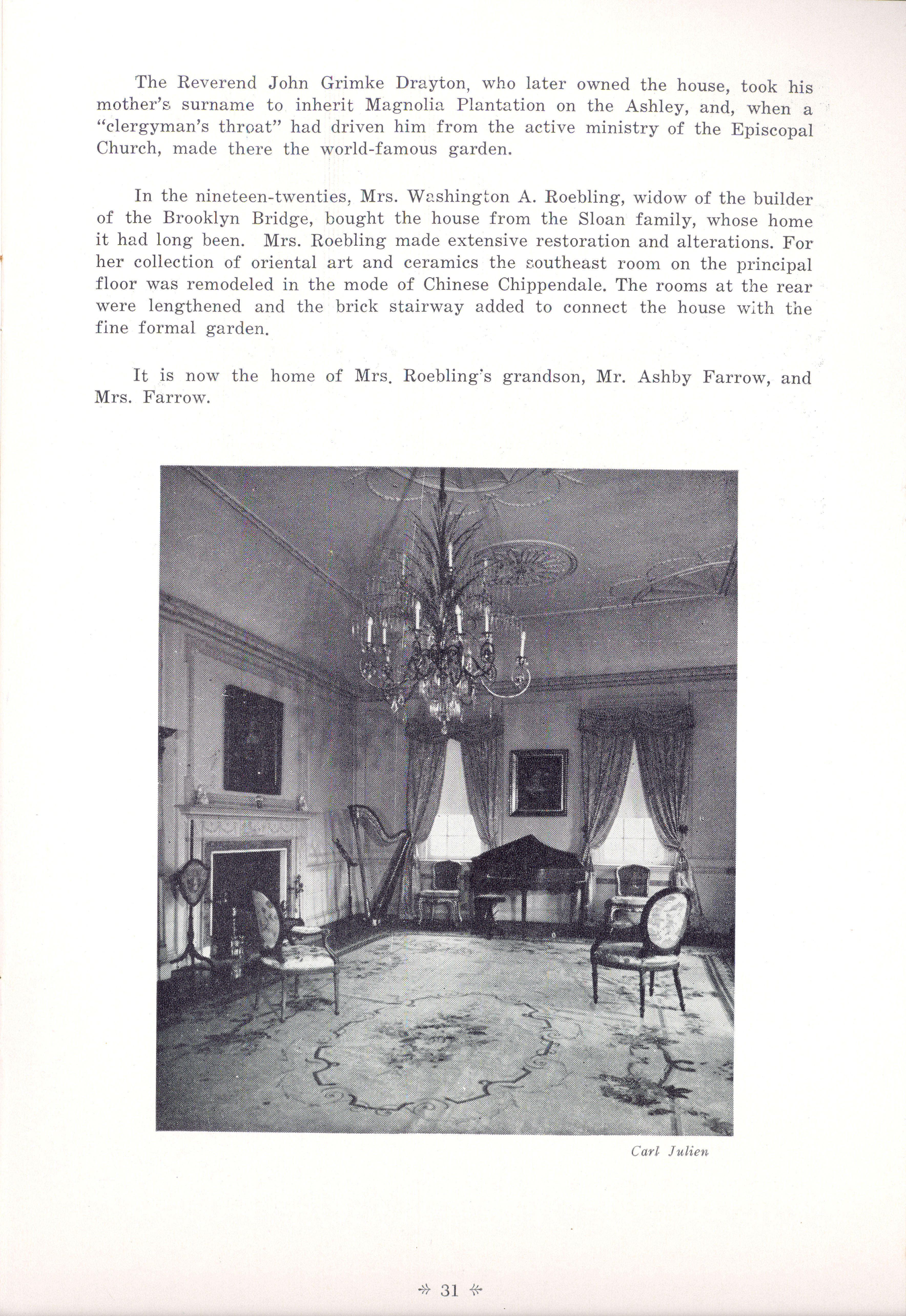 Page 31:  No. 10 - William Gibbes' House, 64 South Battery, c. 1772, cont'd