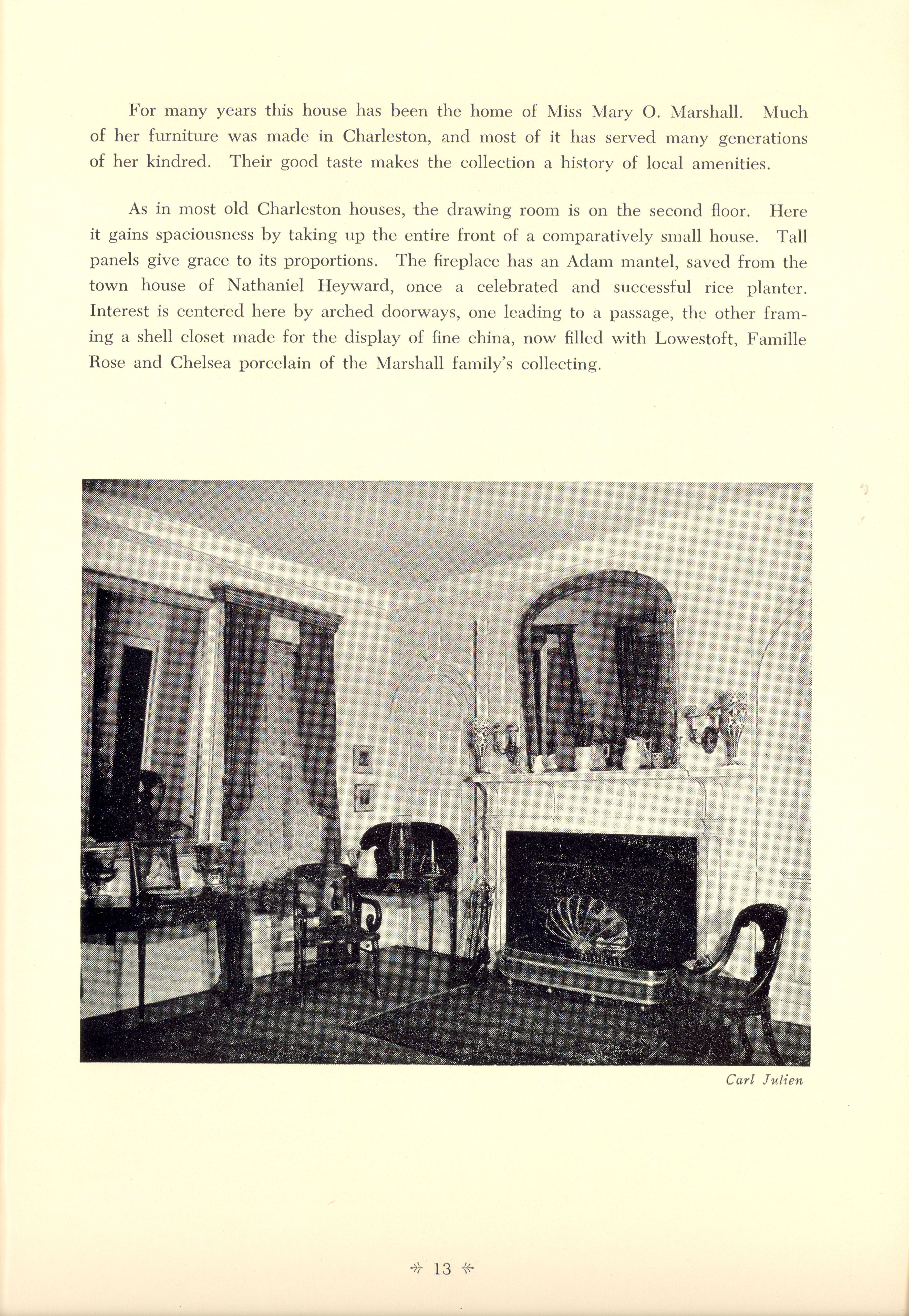 Page 13:  No. 1 - George Eveleigh's House, 39 Church Street, c. 1738, cont'd