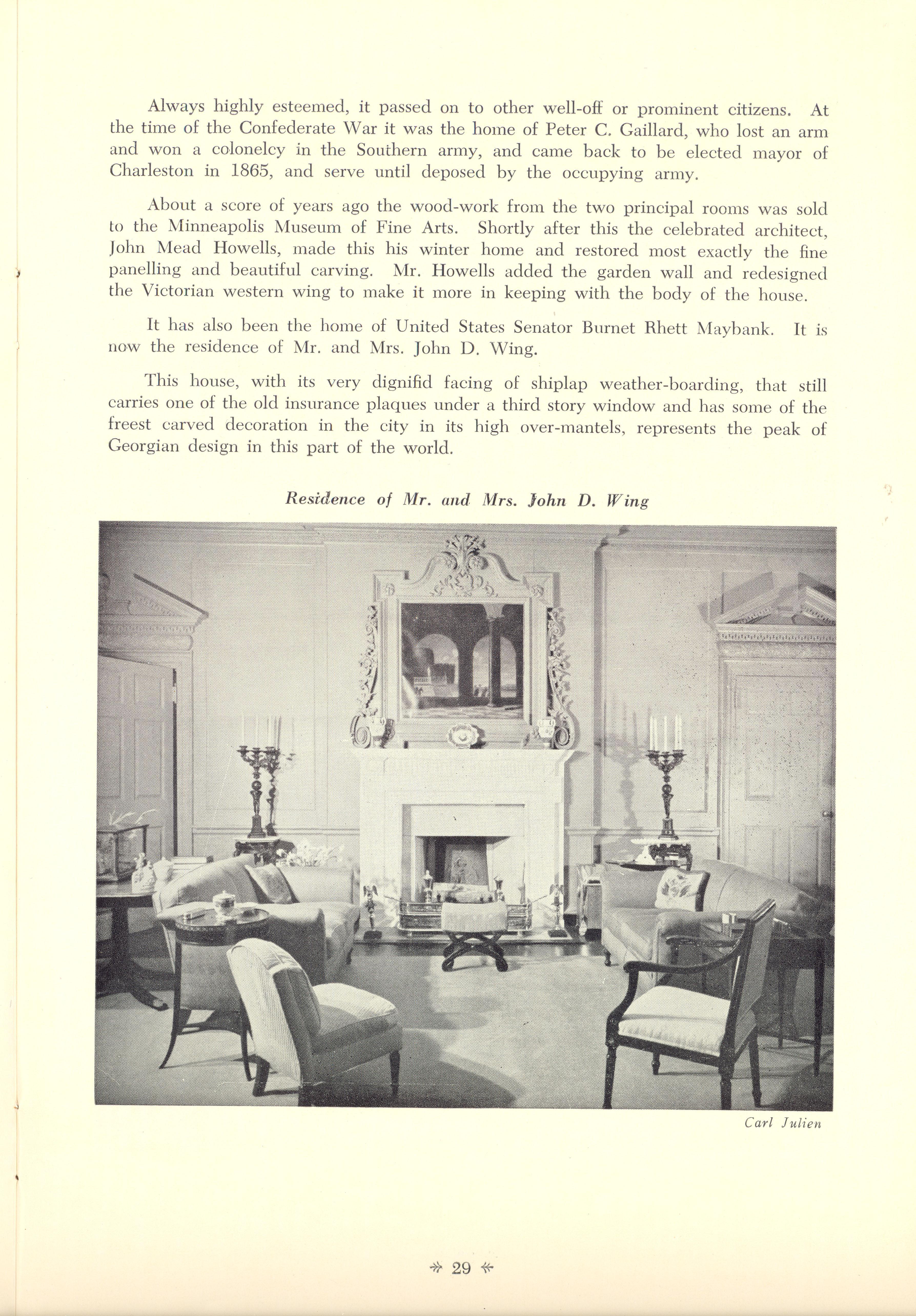 Page 29:  No. 9 - Colonel John Stuart's House, 106 Tradd Street, c. 1772, cont'd