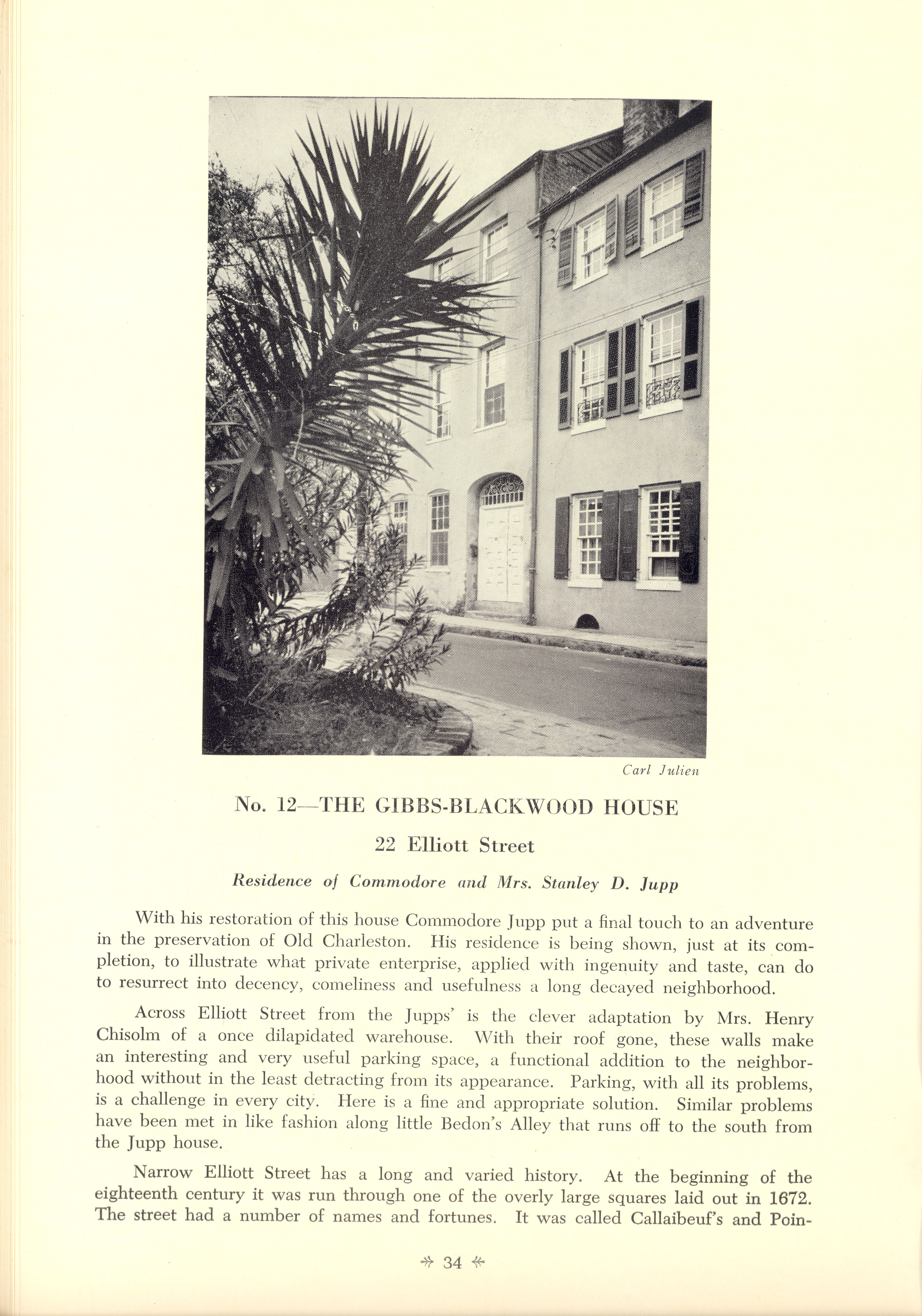 Page 34:  No. 14 - The Gibbs-Blackwood House, 22 Elliott Street