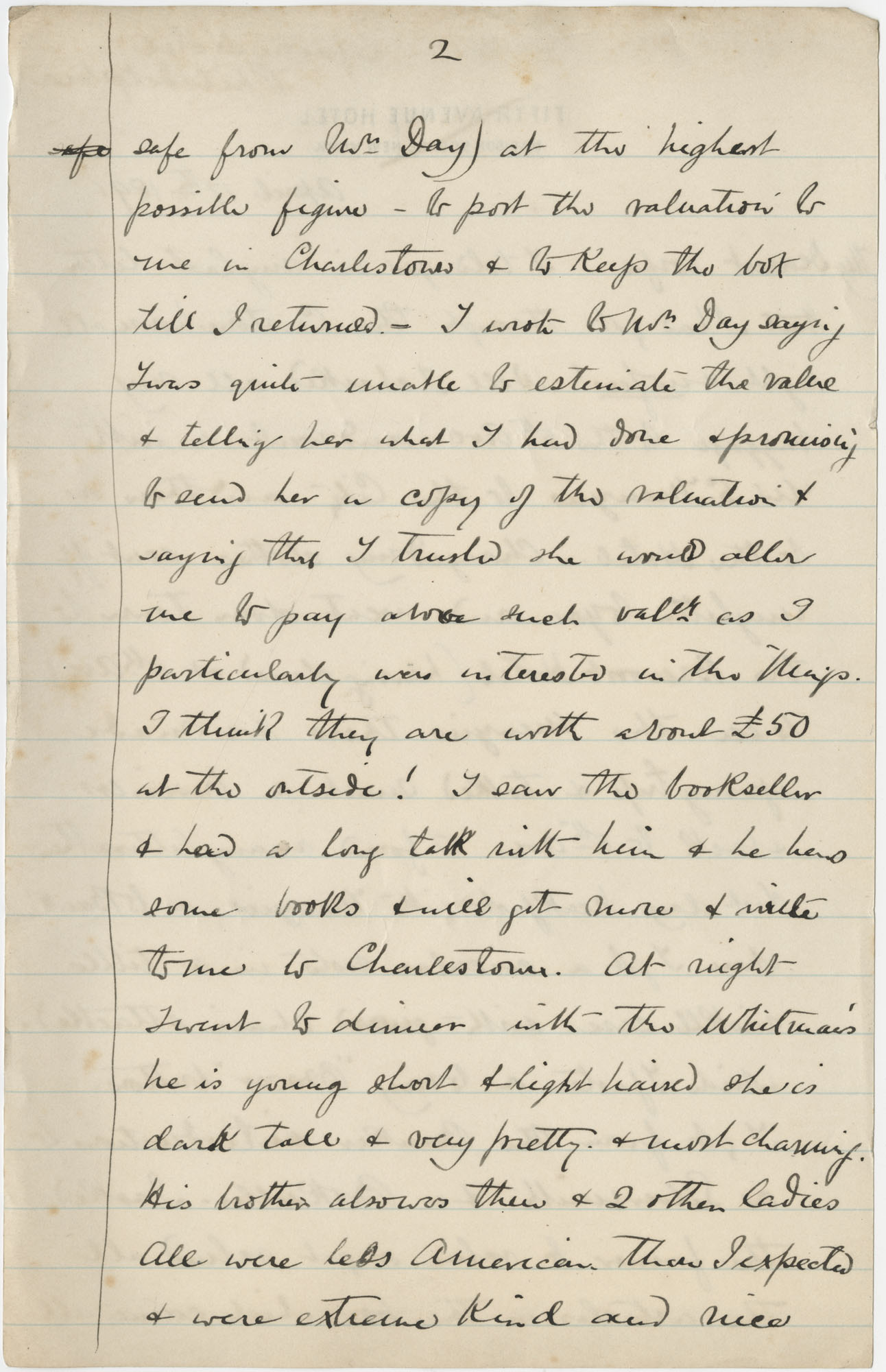 Travel Diary Letters from Theodore Drayton Grimke-Drayton to his wife, 1891, Page 18