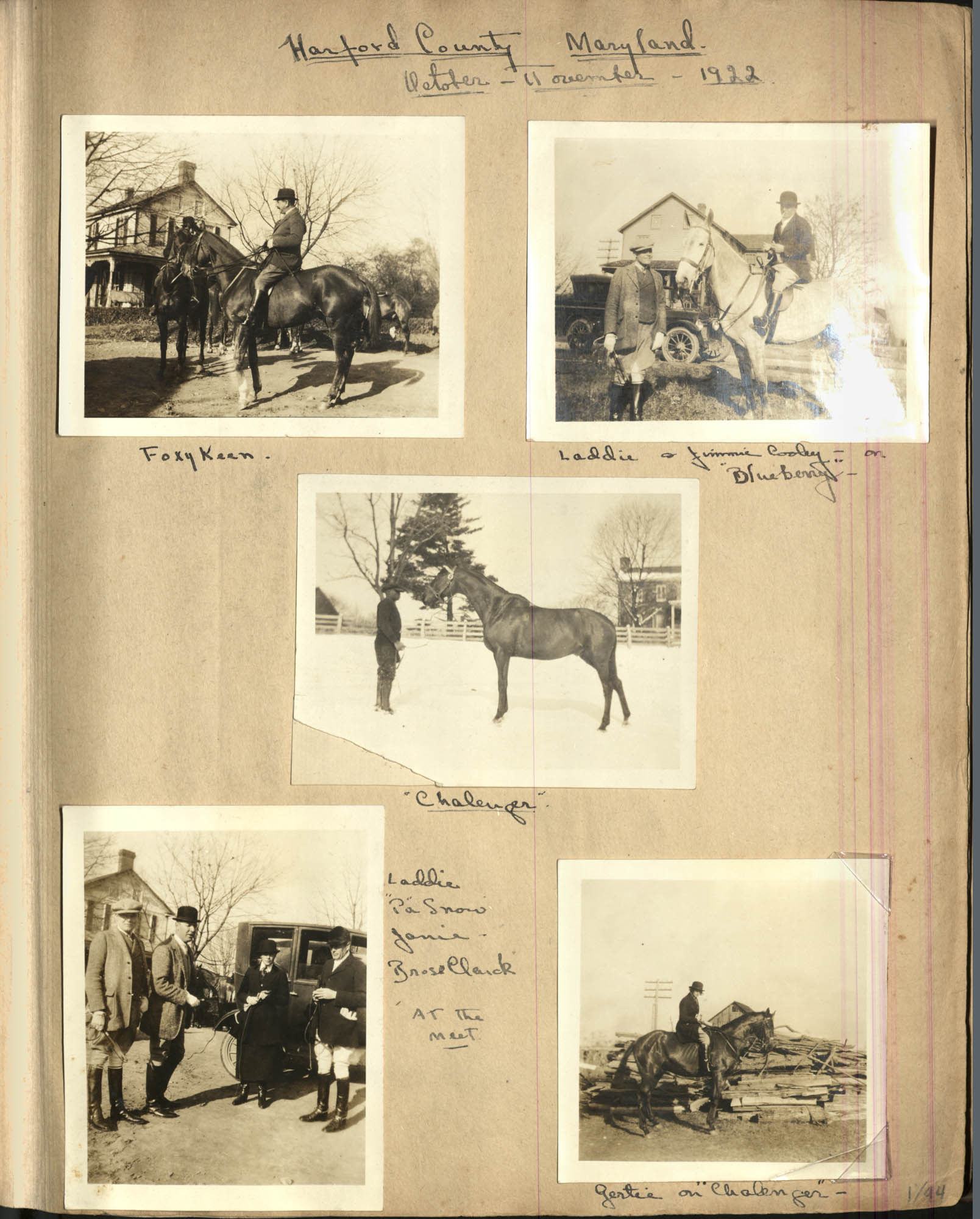 Sanford Family Photograph Album, 1922, Page 1