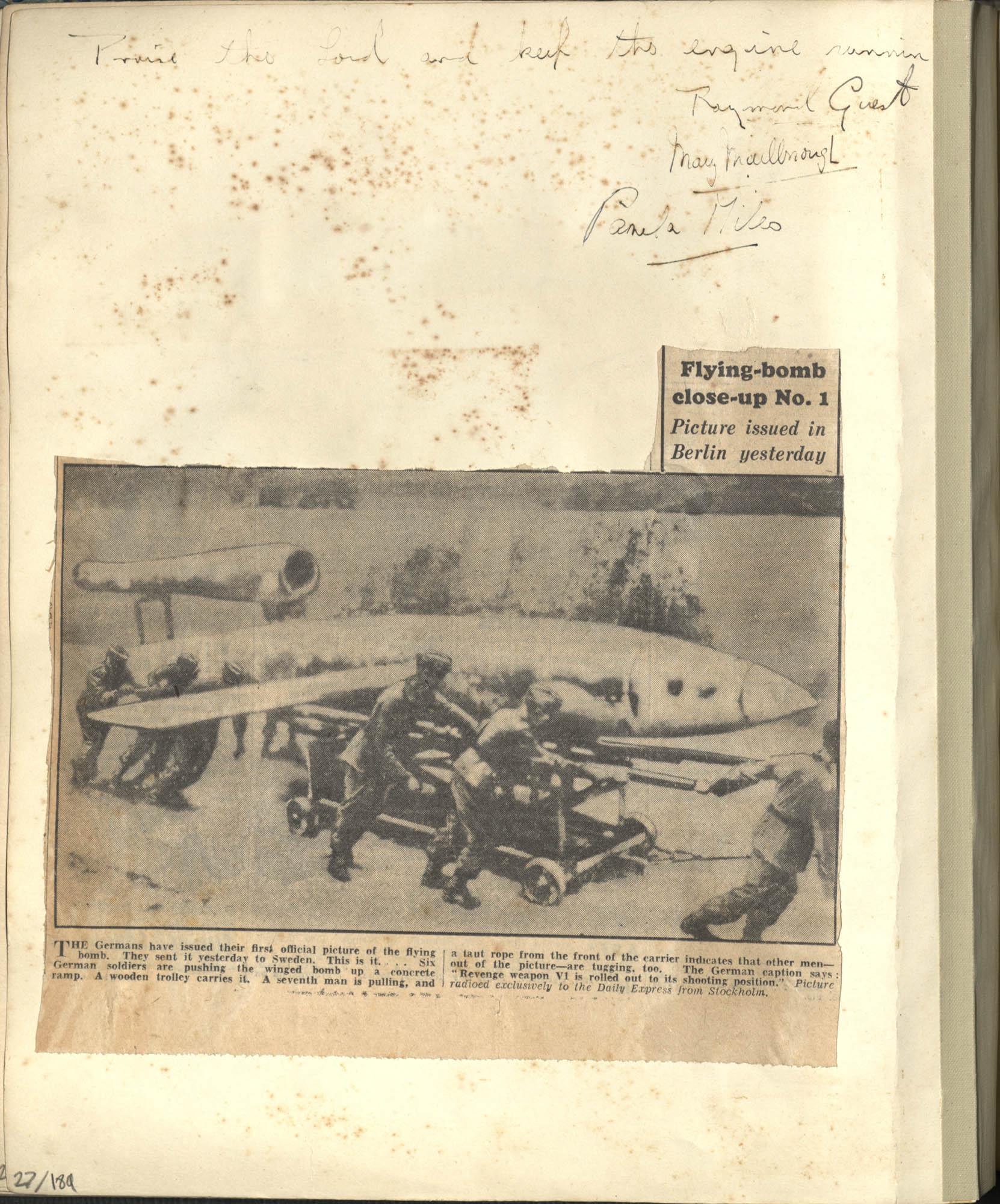 Gertrude Legendre OSS Scrapbook, 1944, Page 27