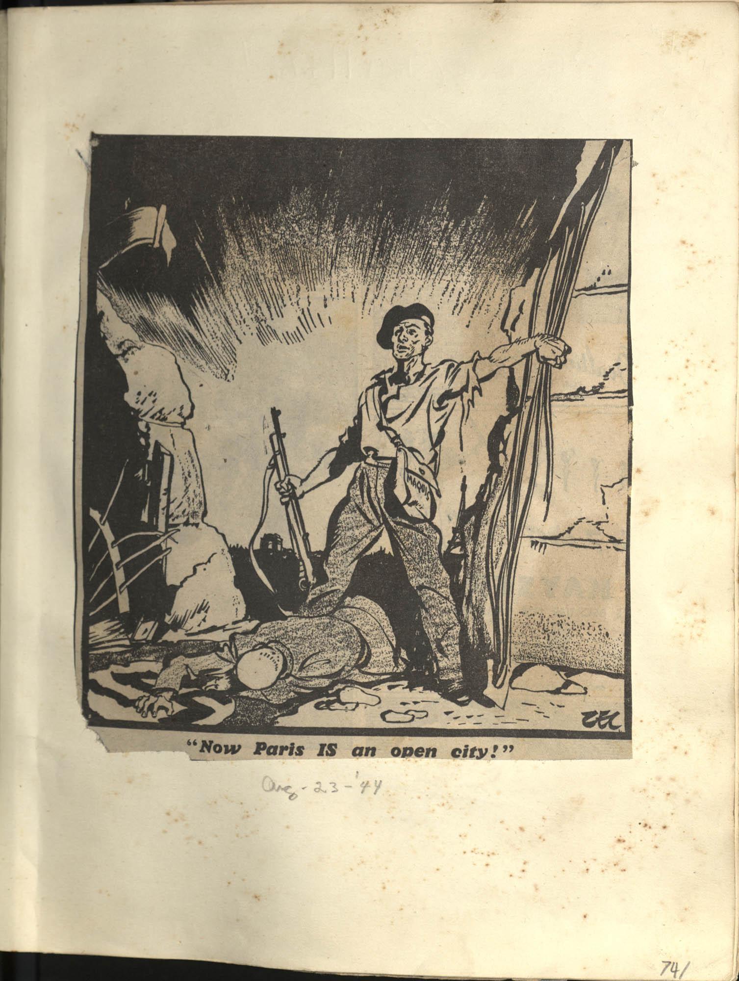 Gertrude Legendre OSS Scrapbook, 1944, Page 74
