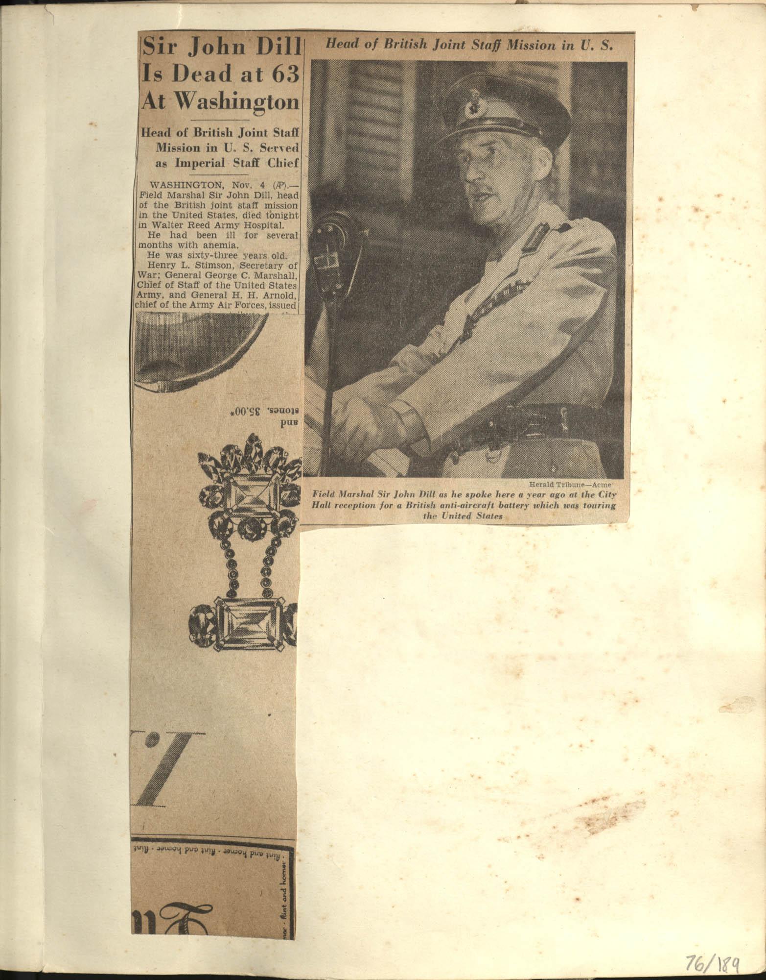 Gertrude Legendre OSS Scrapbook, 1944, Page 76