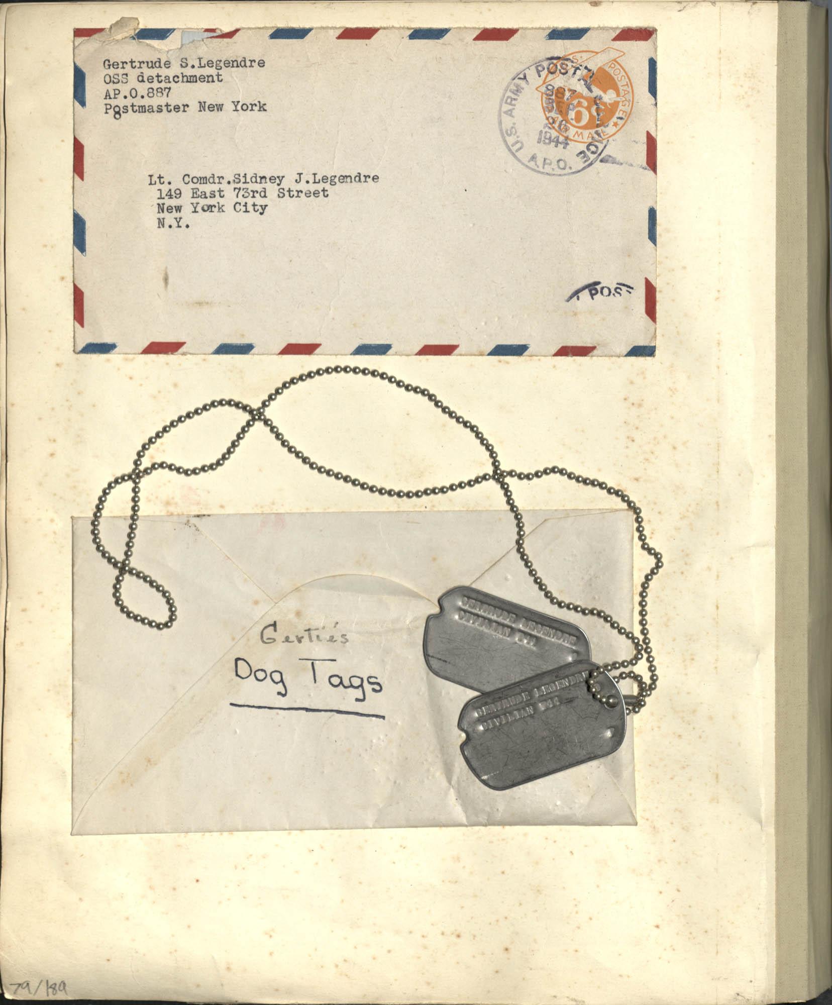 Gertrude Legendre OSS Scrapbook, 1944, Page 79a