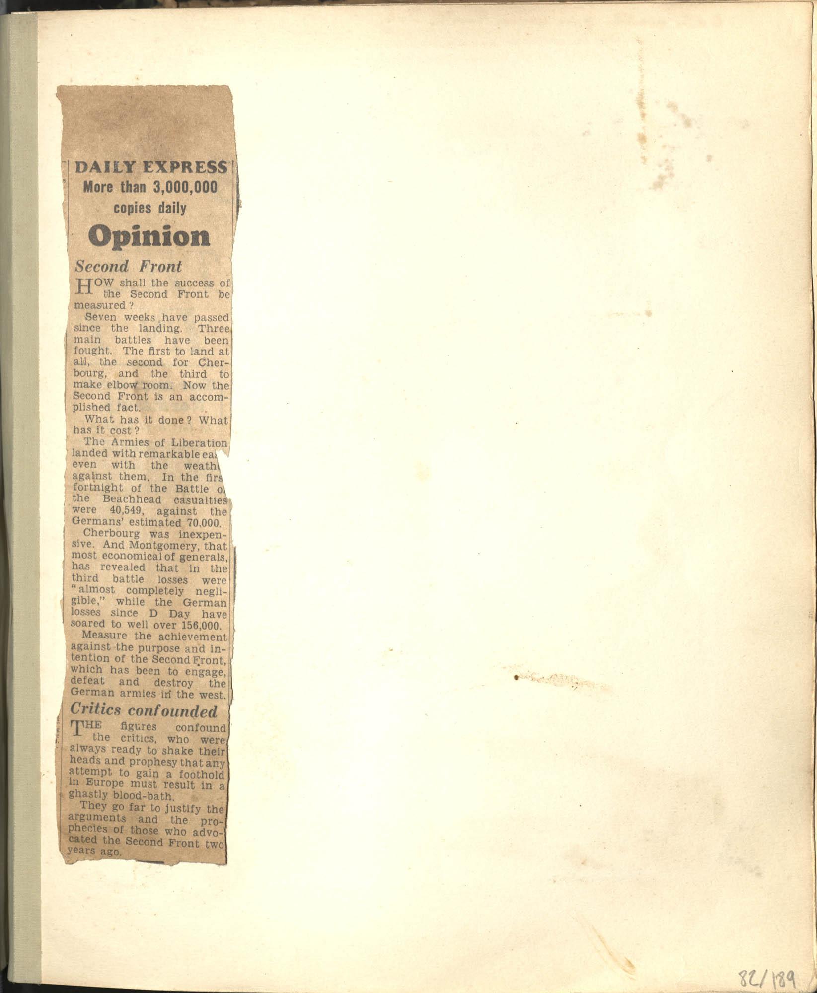 Gertrude Legendre OSS Scrapbook, 1944, Page 82