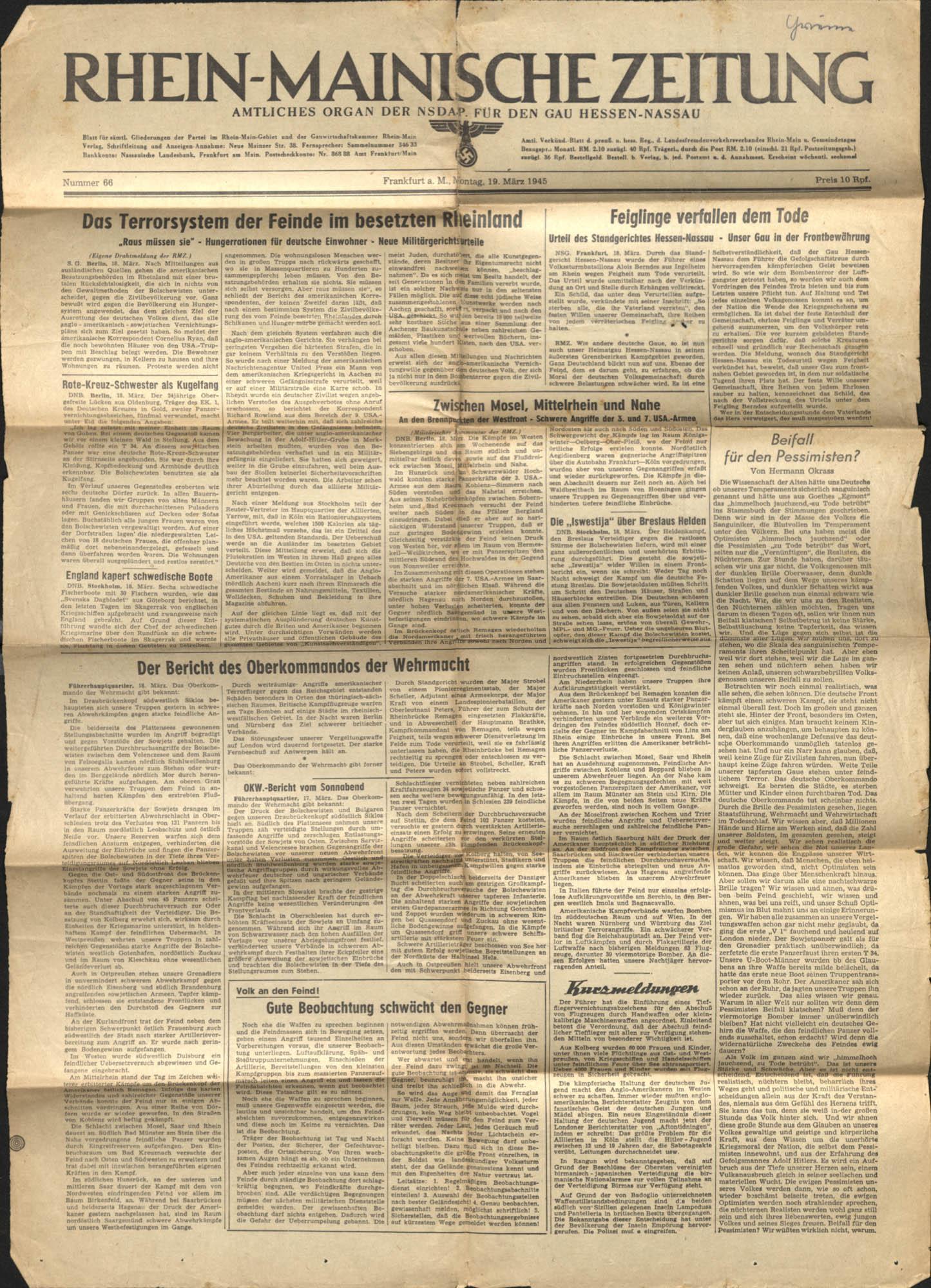 Gertrude Legendre OSS Scrapbook, 1944, Page 144b