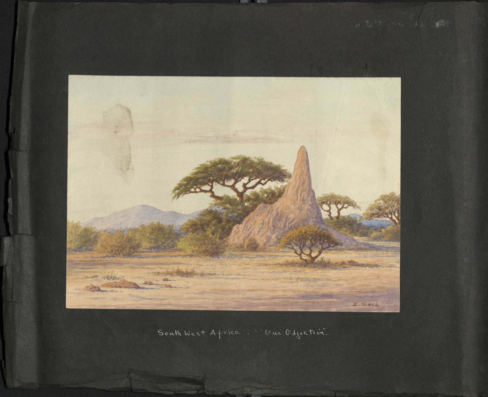 """""""South West Africa"""" Photograph Album, 1937, Page ii"""