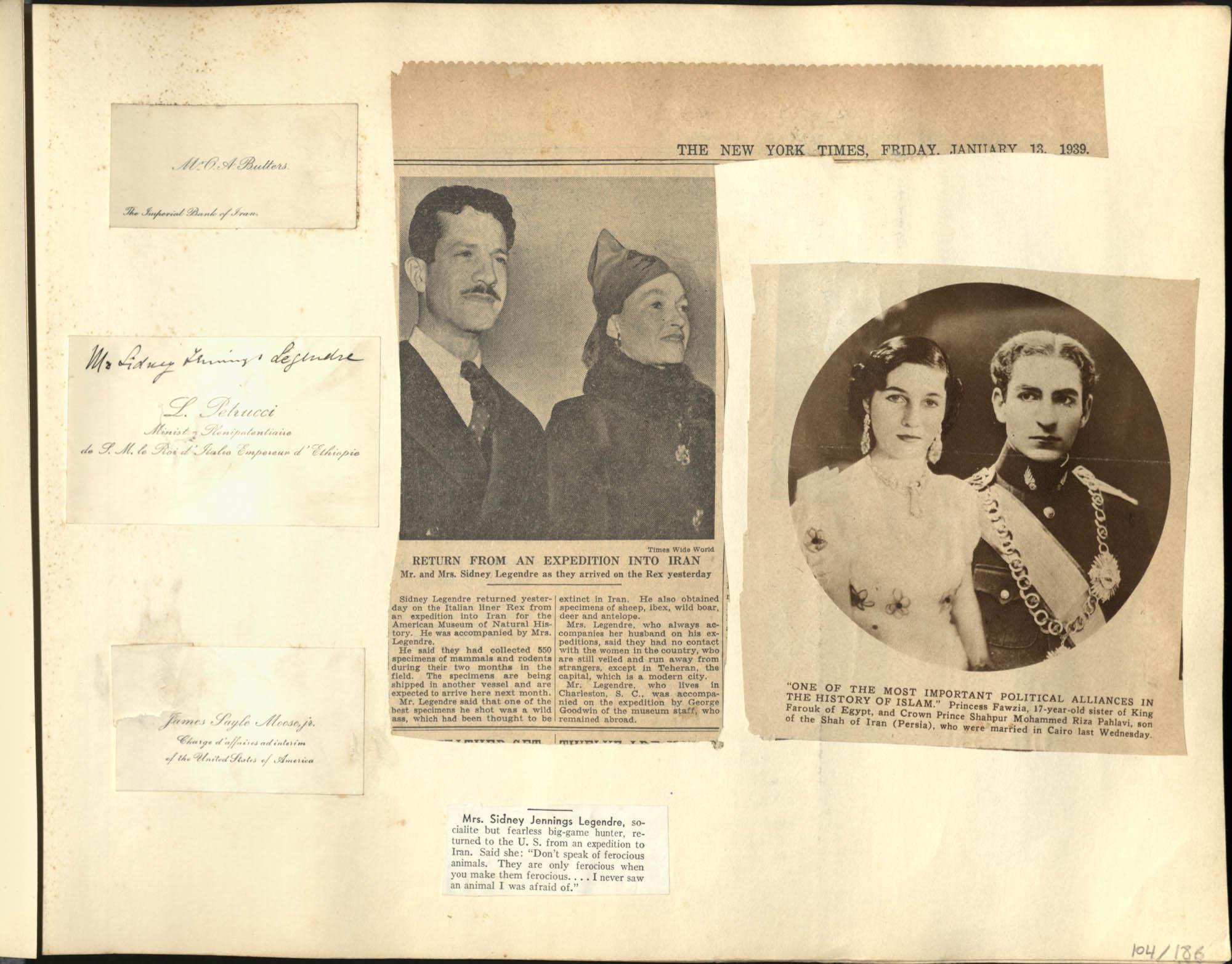 """Persia"" Photograph Album, 1938, Page 104"
