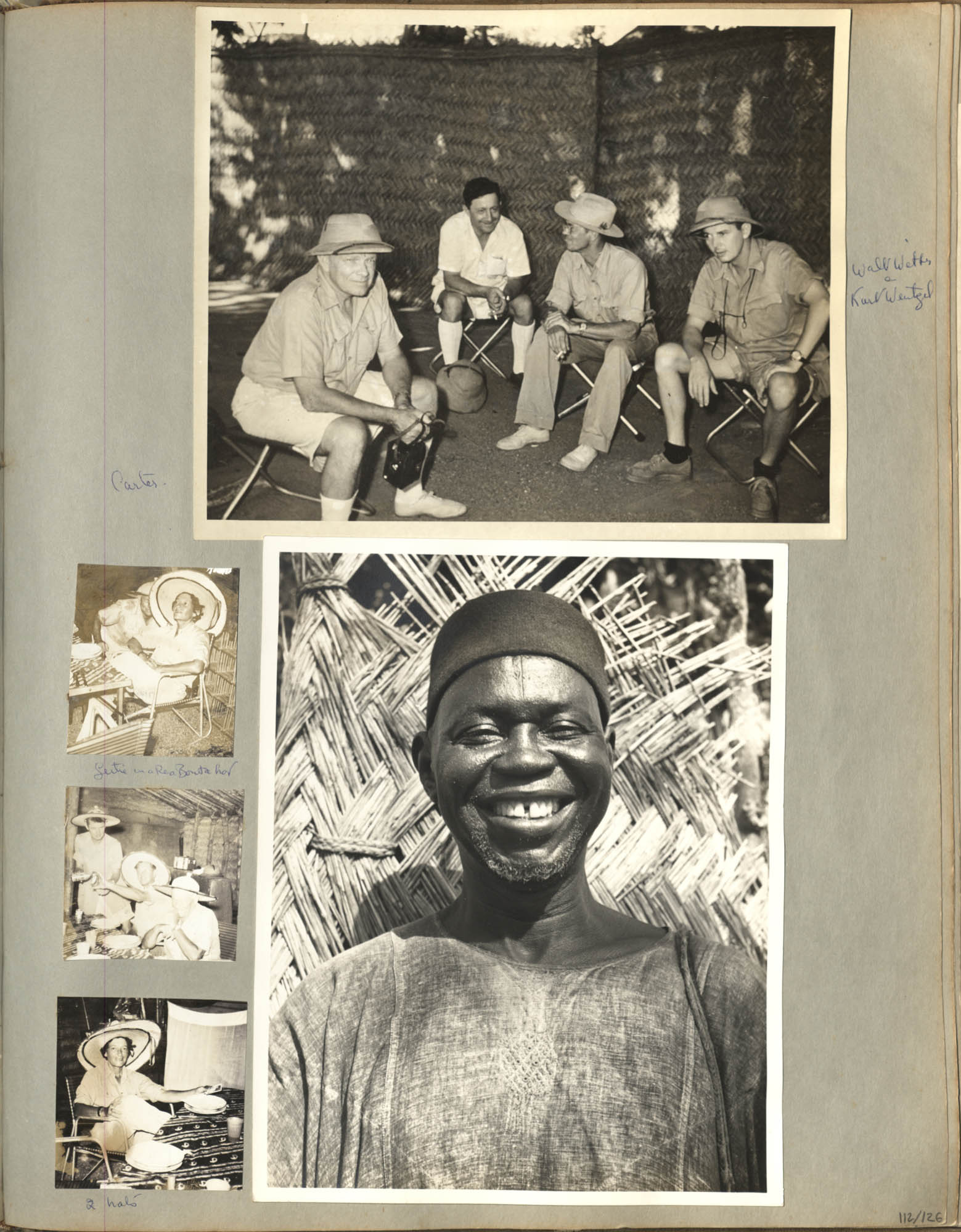 """""""French Equatorial Africa"""" Photograph Album, 1952, Page 123"""