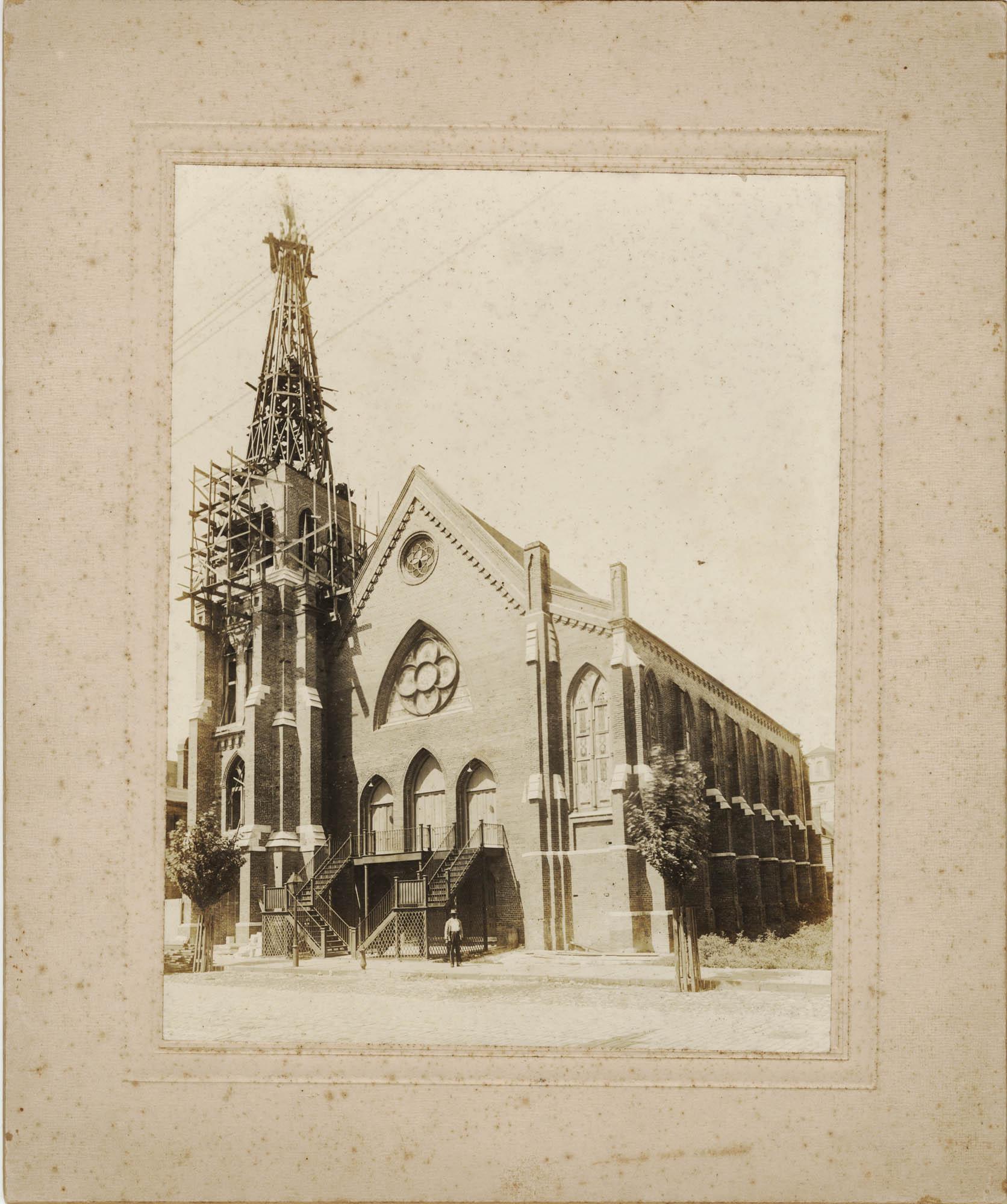 Emanuel A.M.E. Church Under Repair