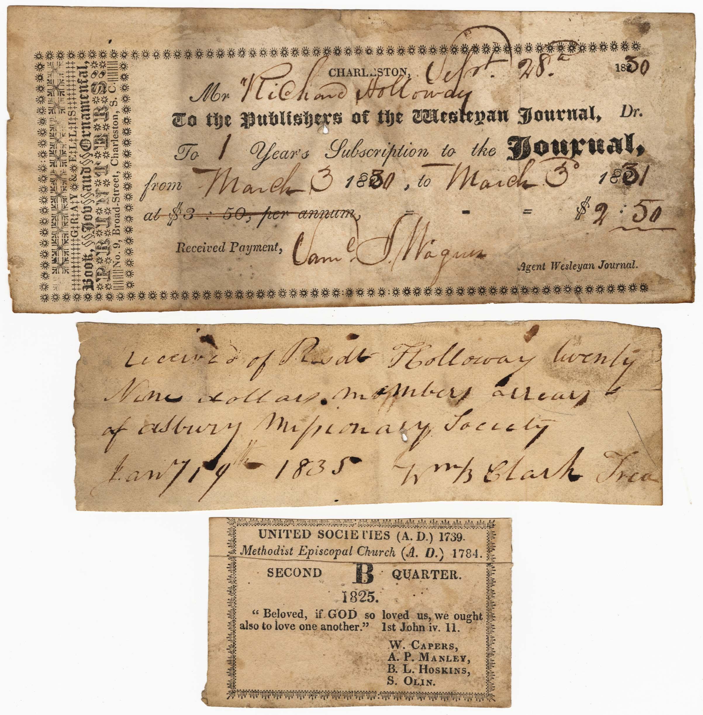 Miscellaneous receipts
