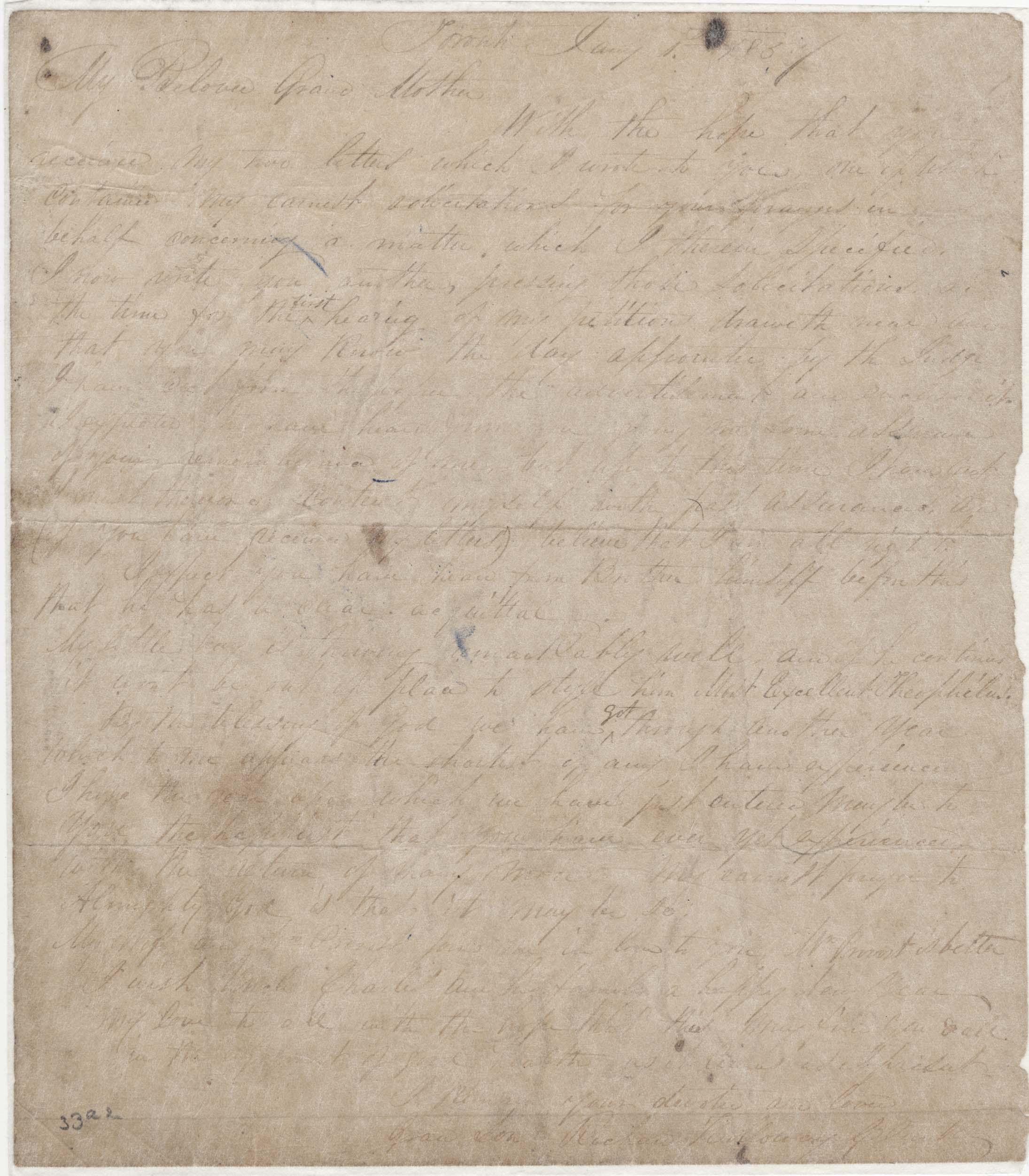 Richard Holloway Clark to grandmother Elizabeth Holloway, Jan. 1, 1857