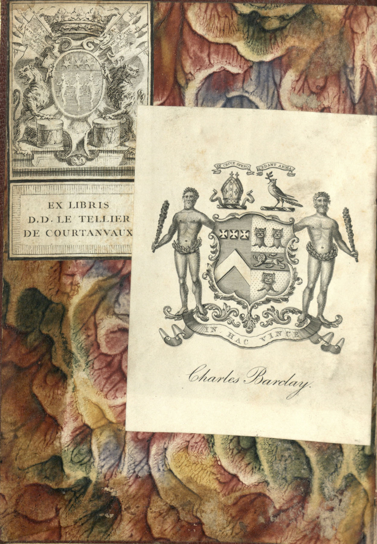 Horae Beatae Mariae Virginis (Use of Paris), Interior Cover, 1
