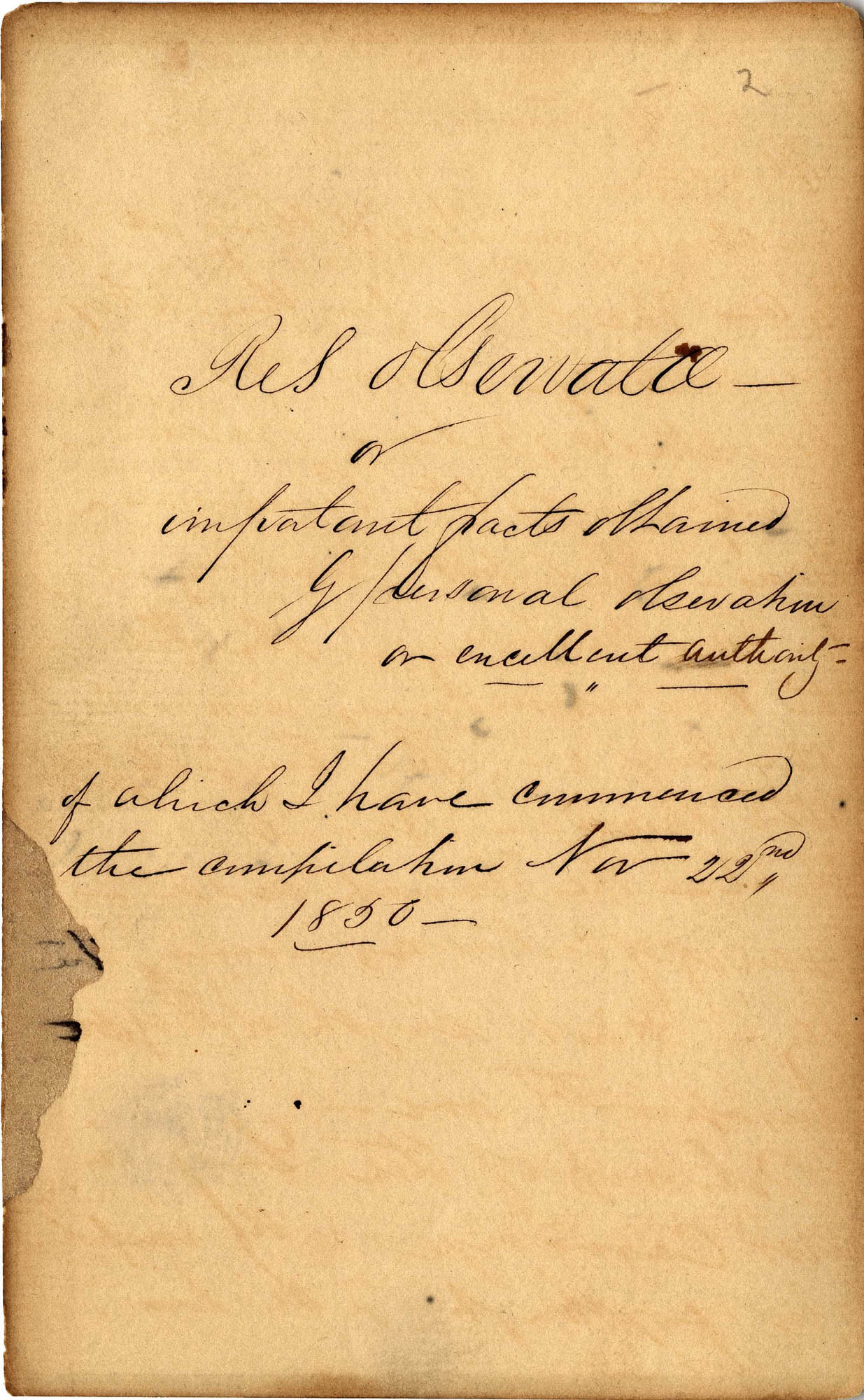 David Henry Mordecai Travel Diary (1850), Page 2