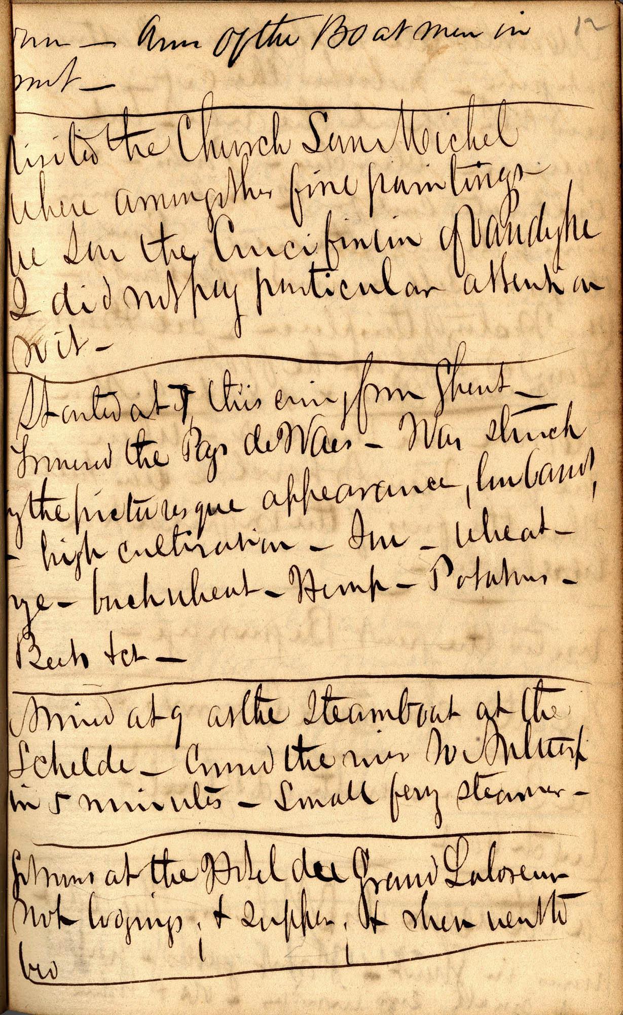 David Henry Mordecai Travel Diary (1850), Page 12