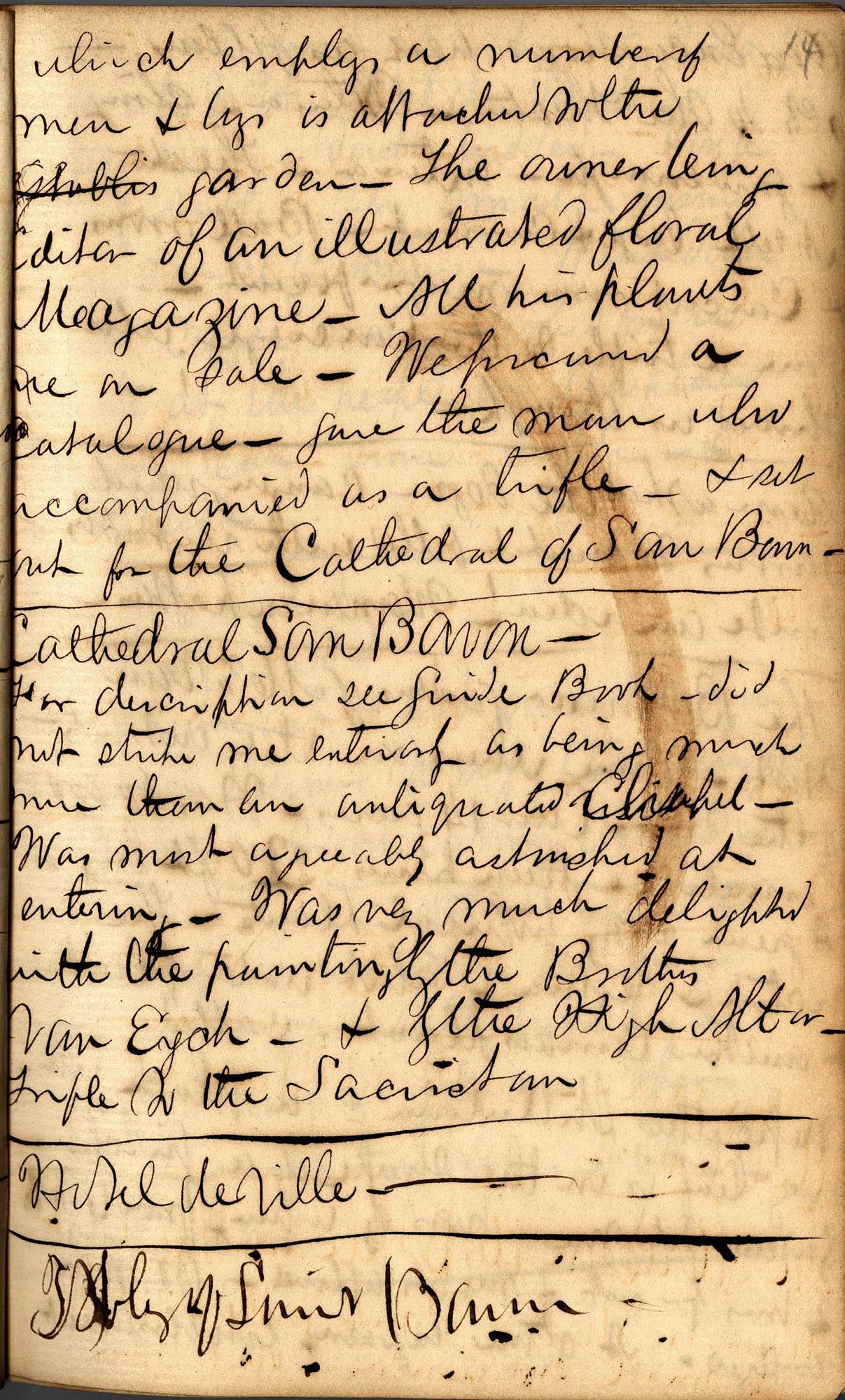 David Henry Mordecai Travel Diary (1850), Page 14
