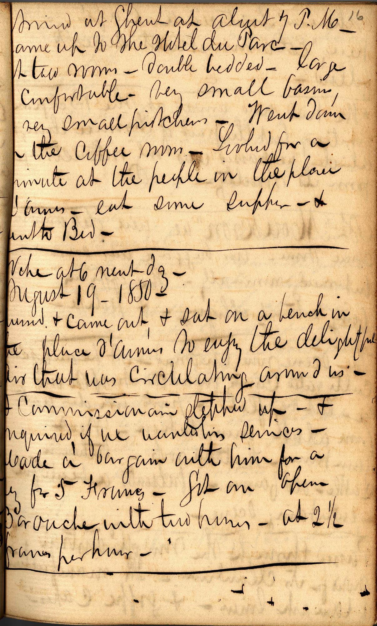 David Henry Mordecai Travel Diary (1850), Page 16