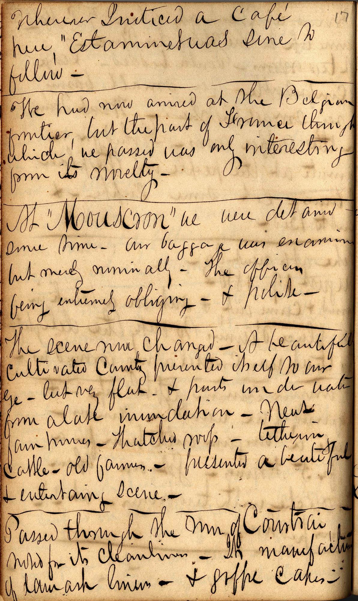 David Henry Mordecai Travel Diary (1850), Page 17