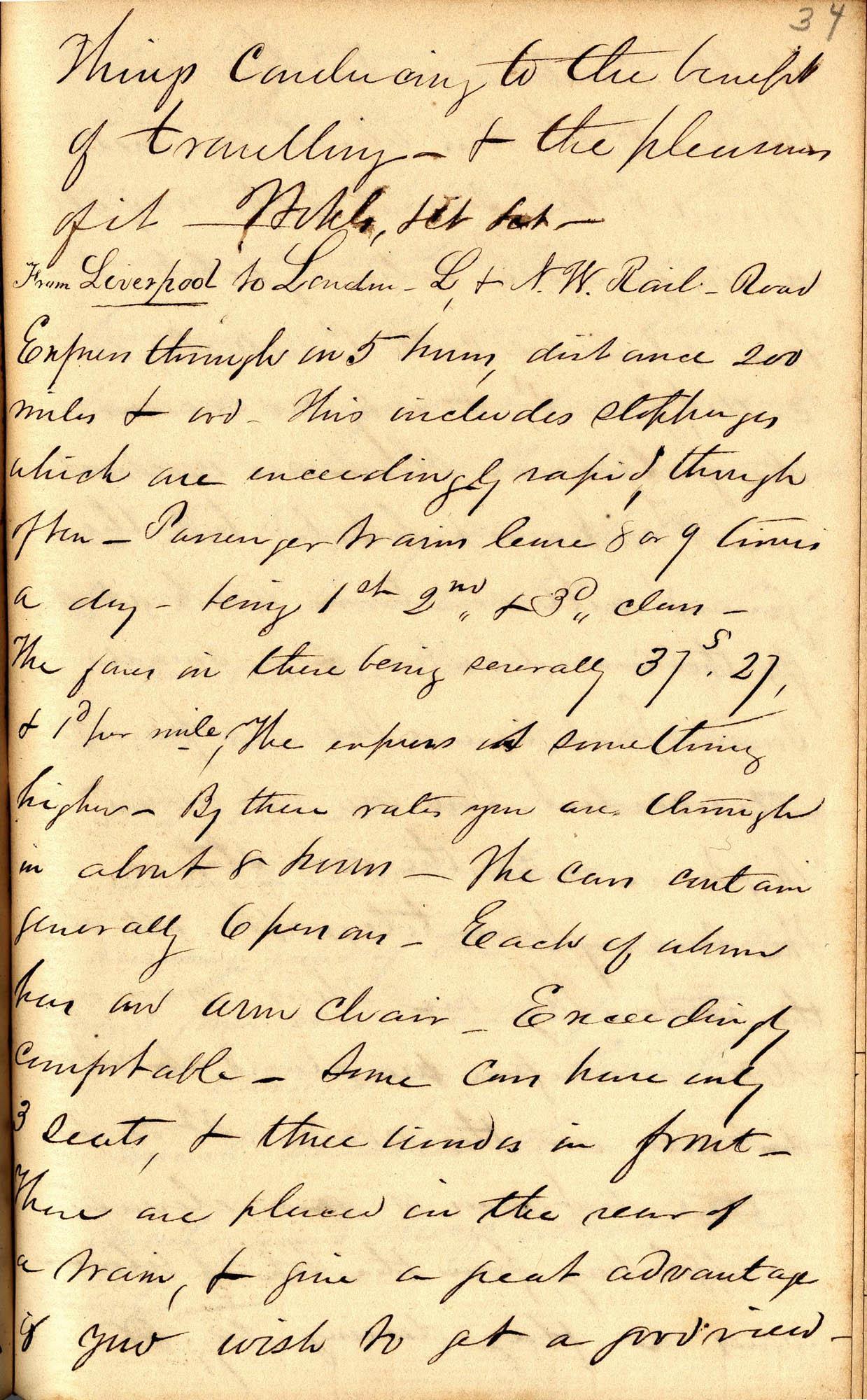 David Henry Mordecai Travel Diary (1850), Page 34