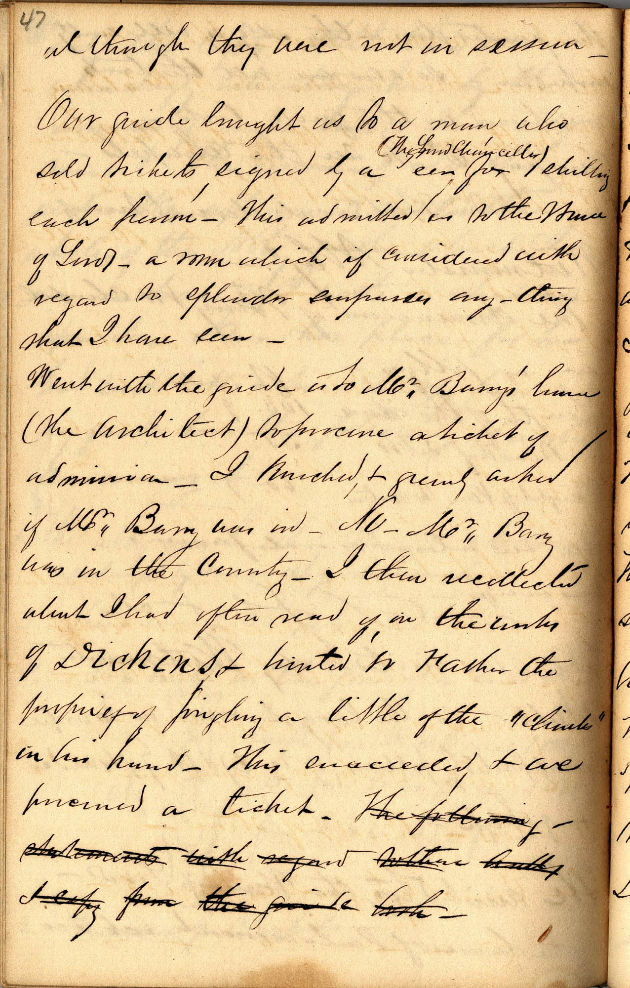 David Henry Mordecai Travel Diary (1850), Page 47
