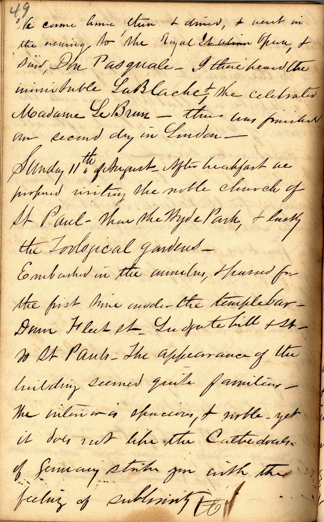David Henry Mordecai Travel Diary (1850), Page 49